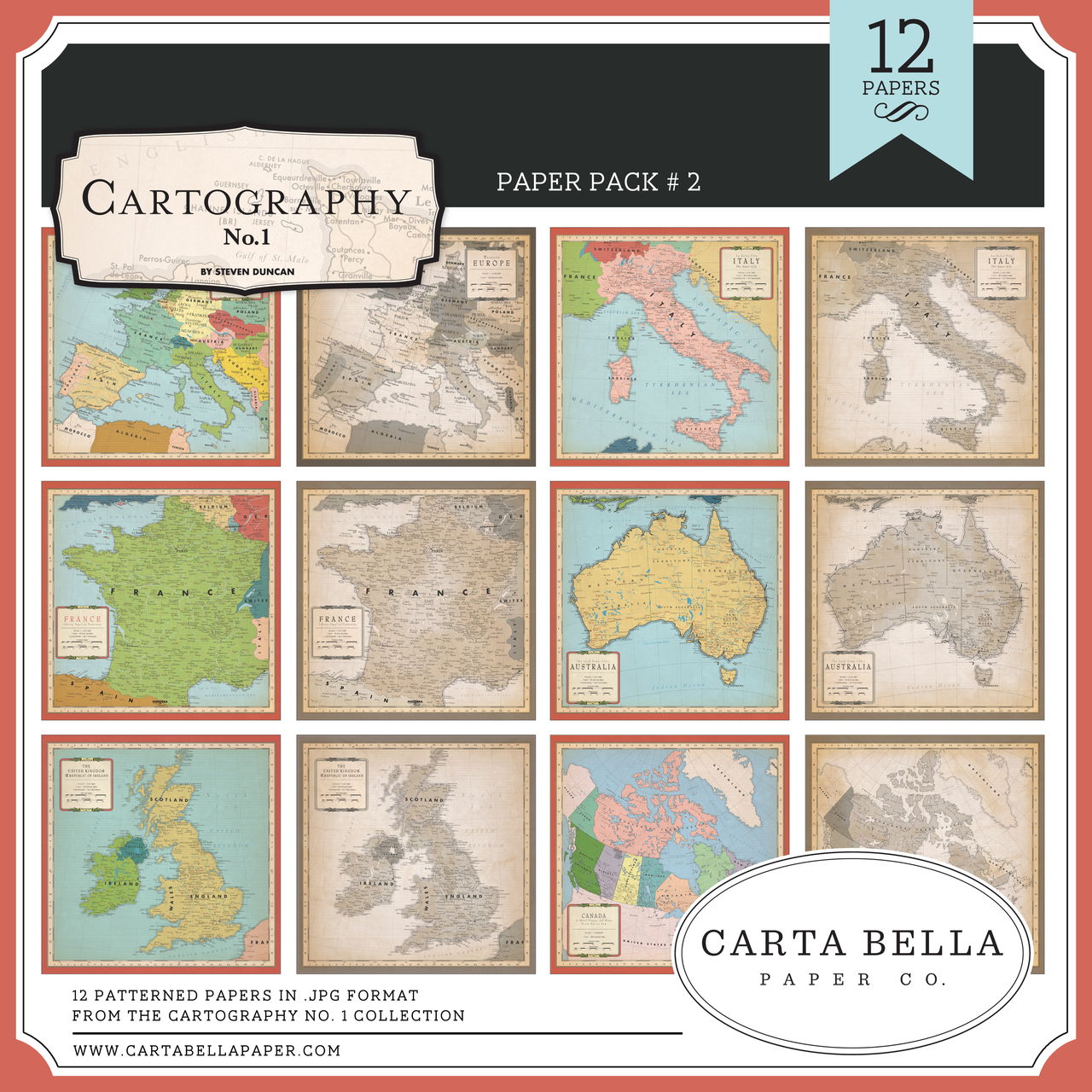 Cartography No. 1 Paper Pack #2