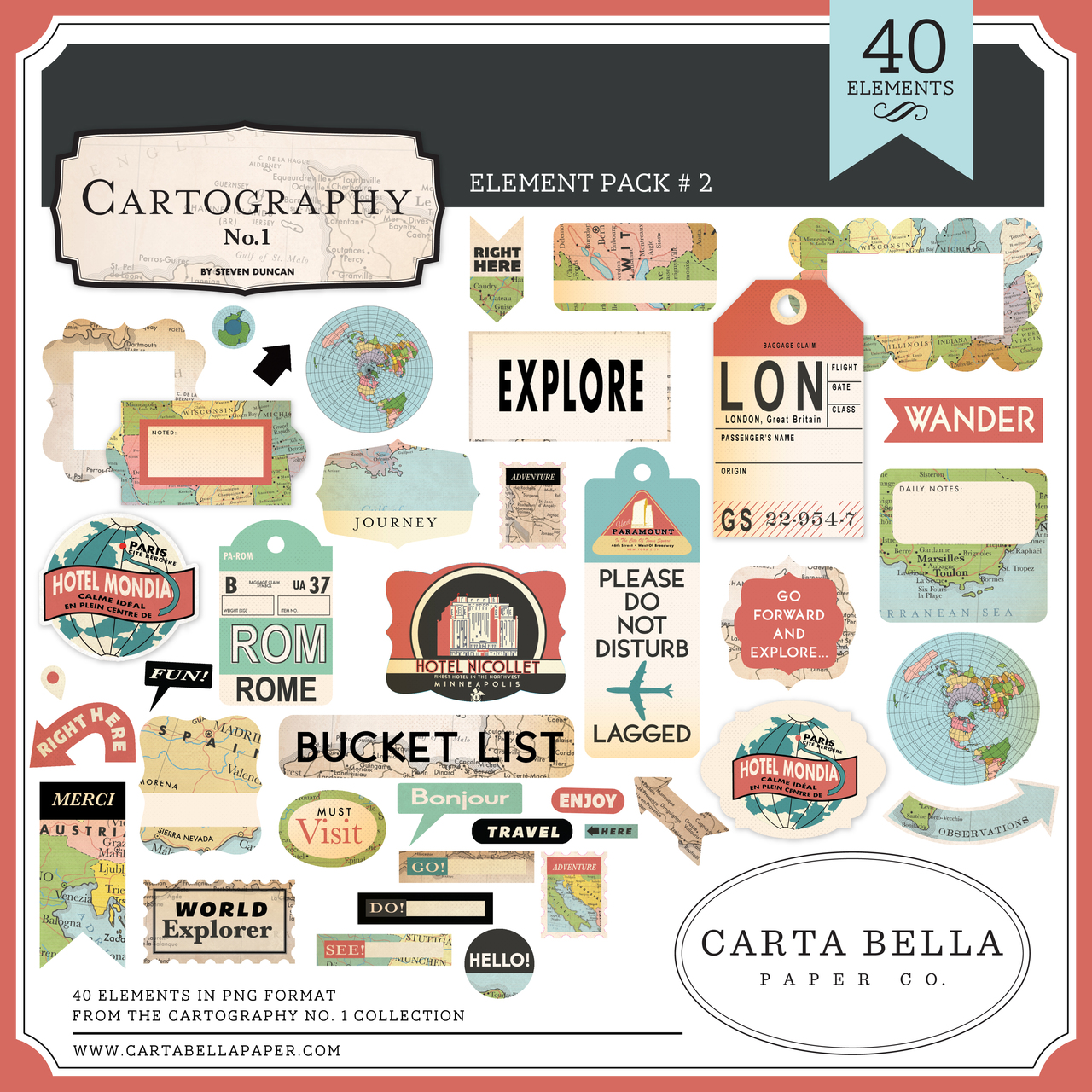 Cartography No. 1 Element Pack #2