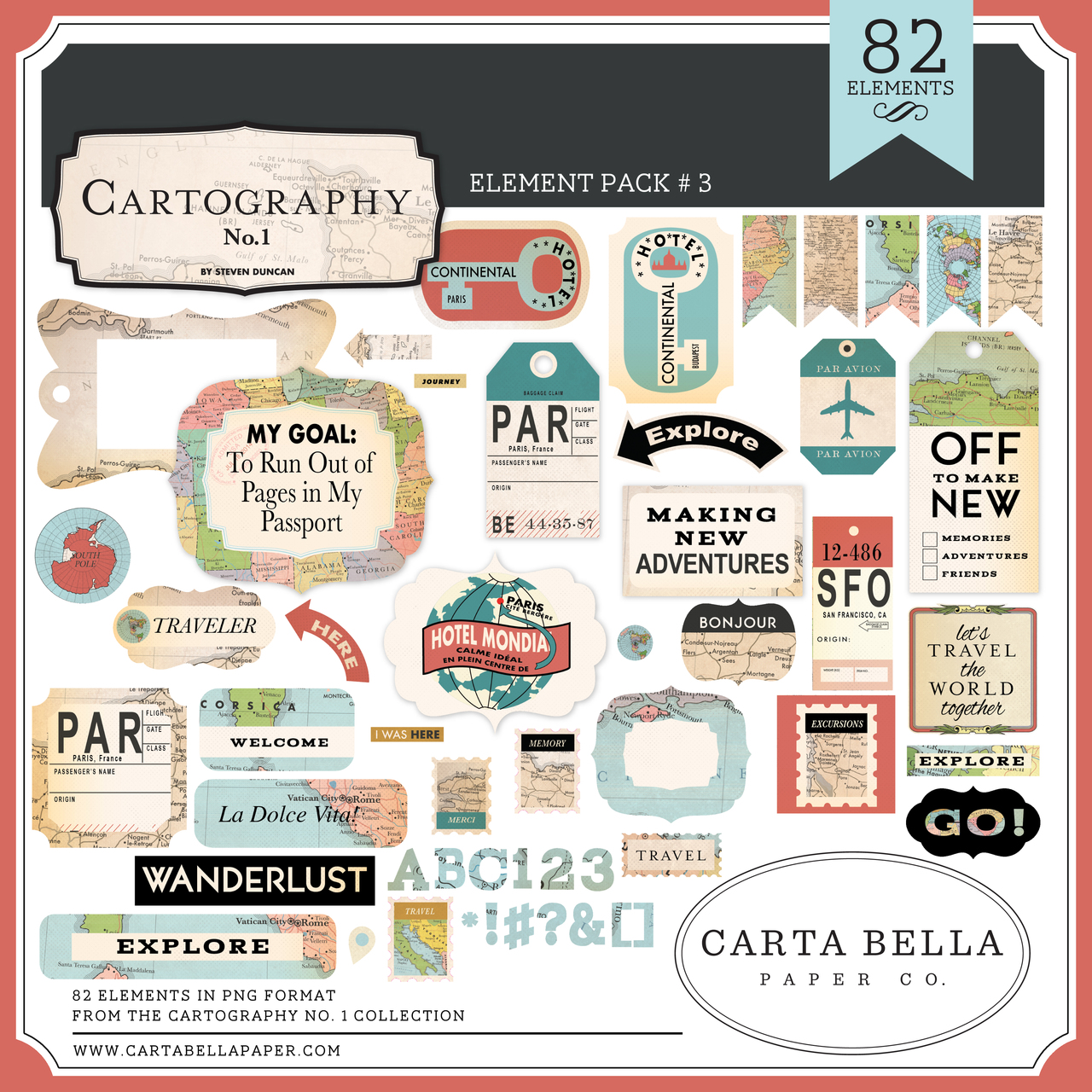 Cartography No. 1 Element Pack #3