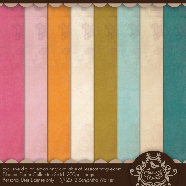 Blossom Paper collection solids