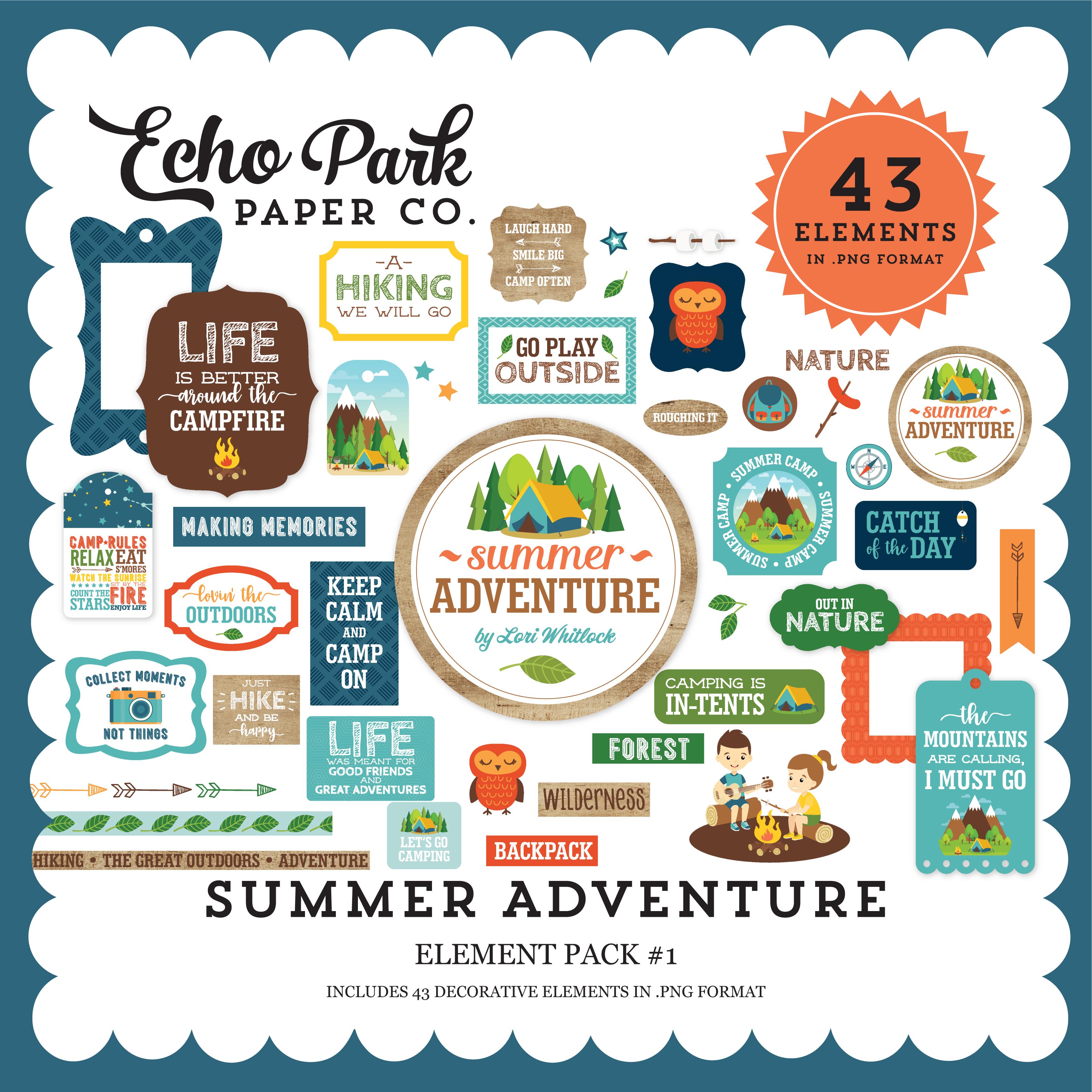 Summer Adventure Element Pack #1