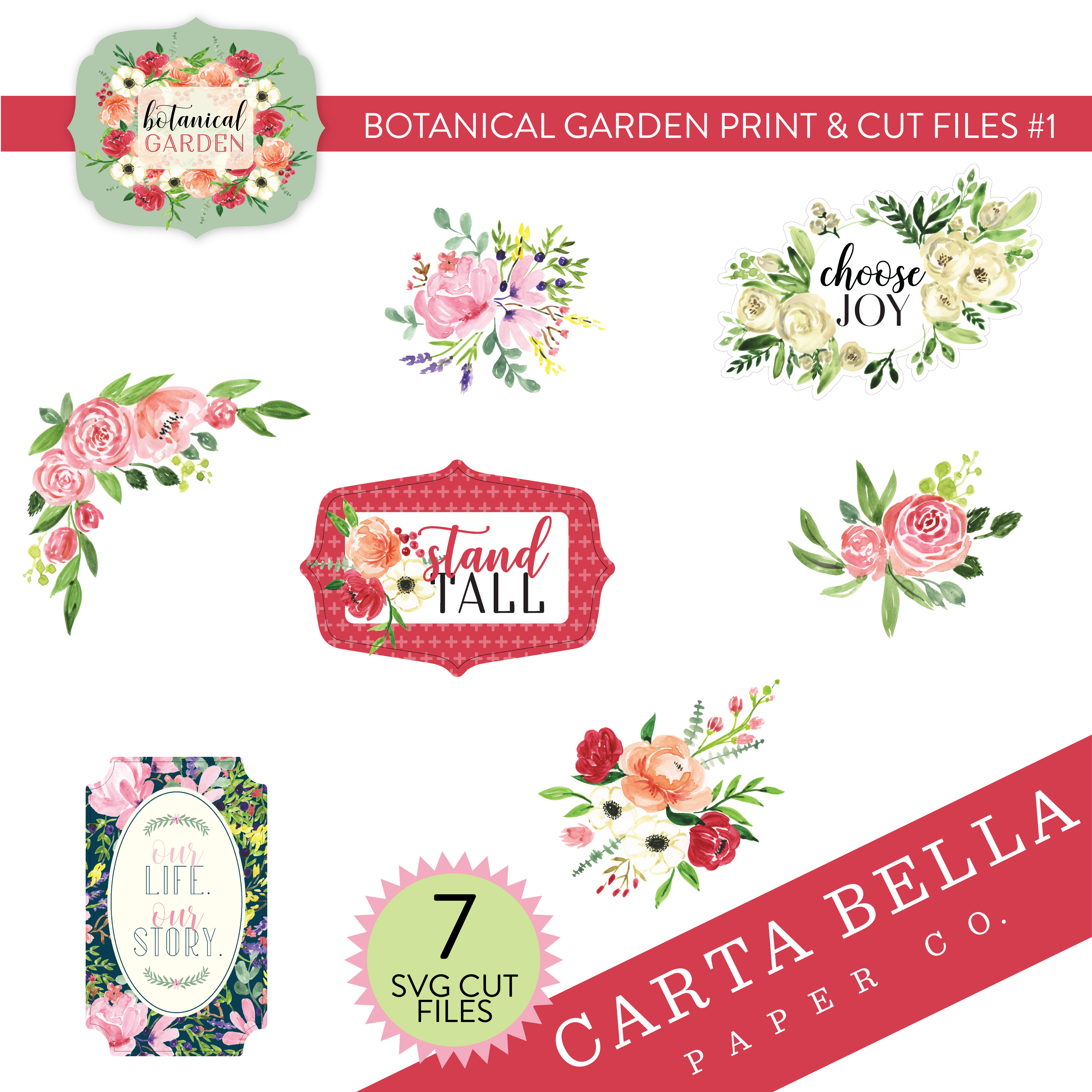 Botanical Garden Print & Cut Files #1