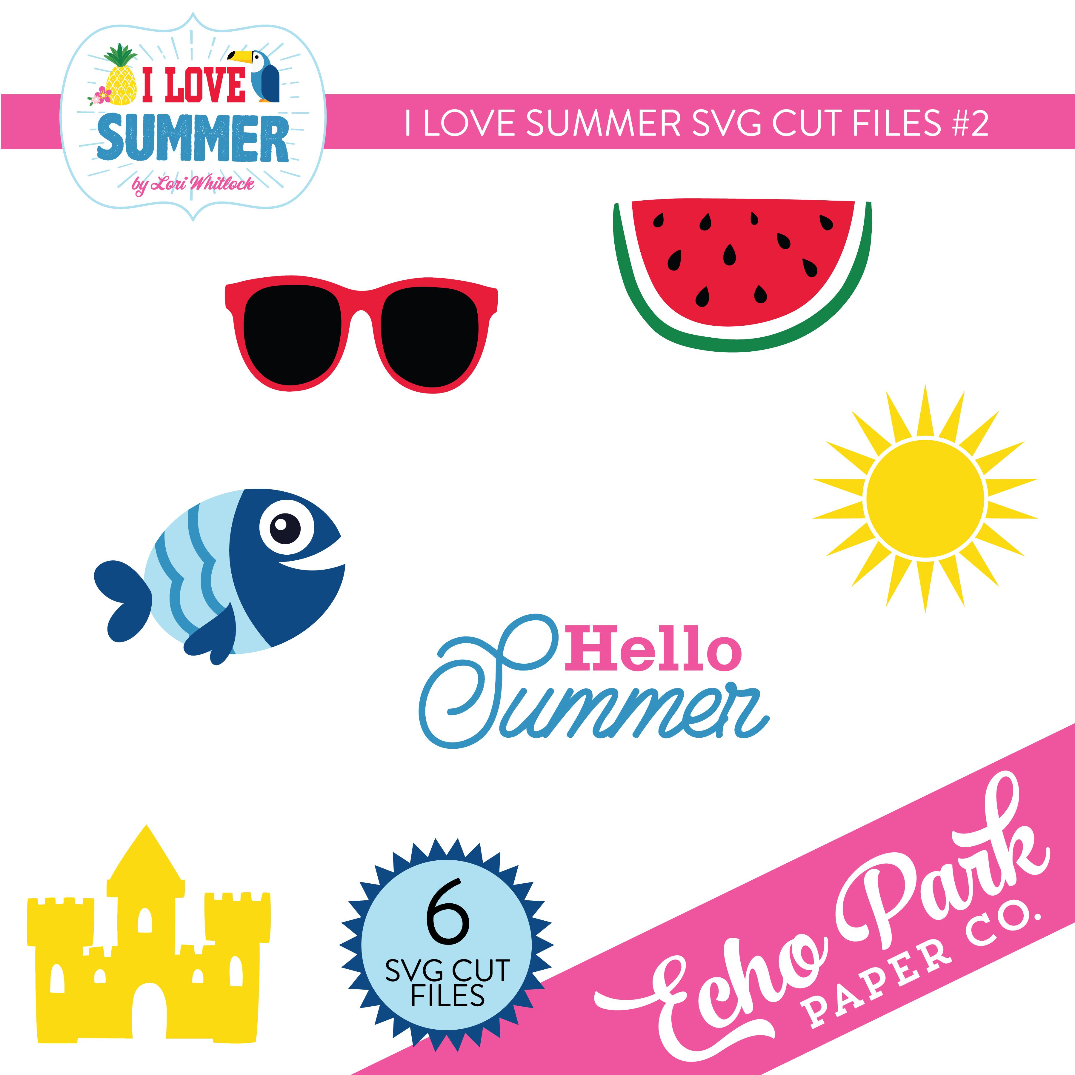 I Love Summer SVG Cut Files #2