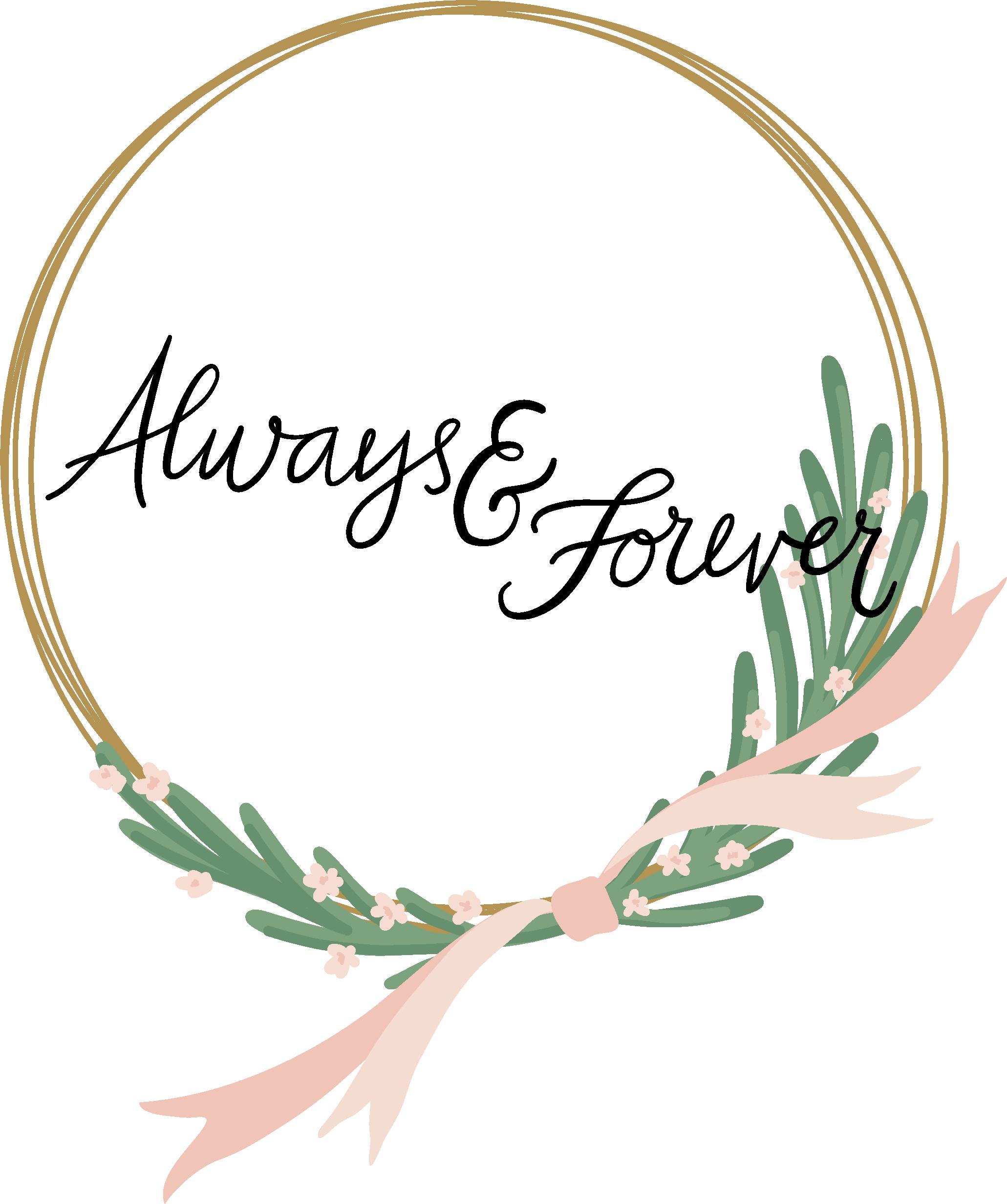 Always & Forever Hoop Print & Cut File
