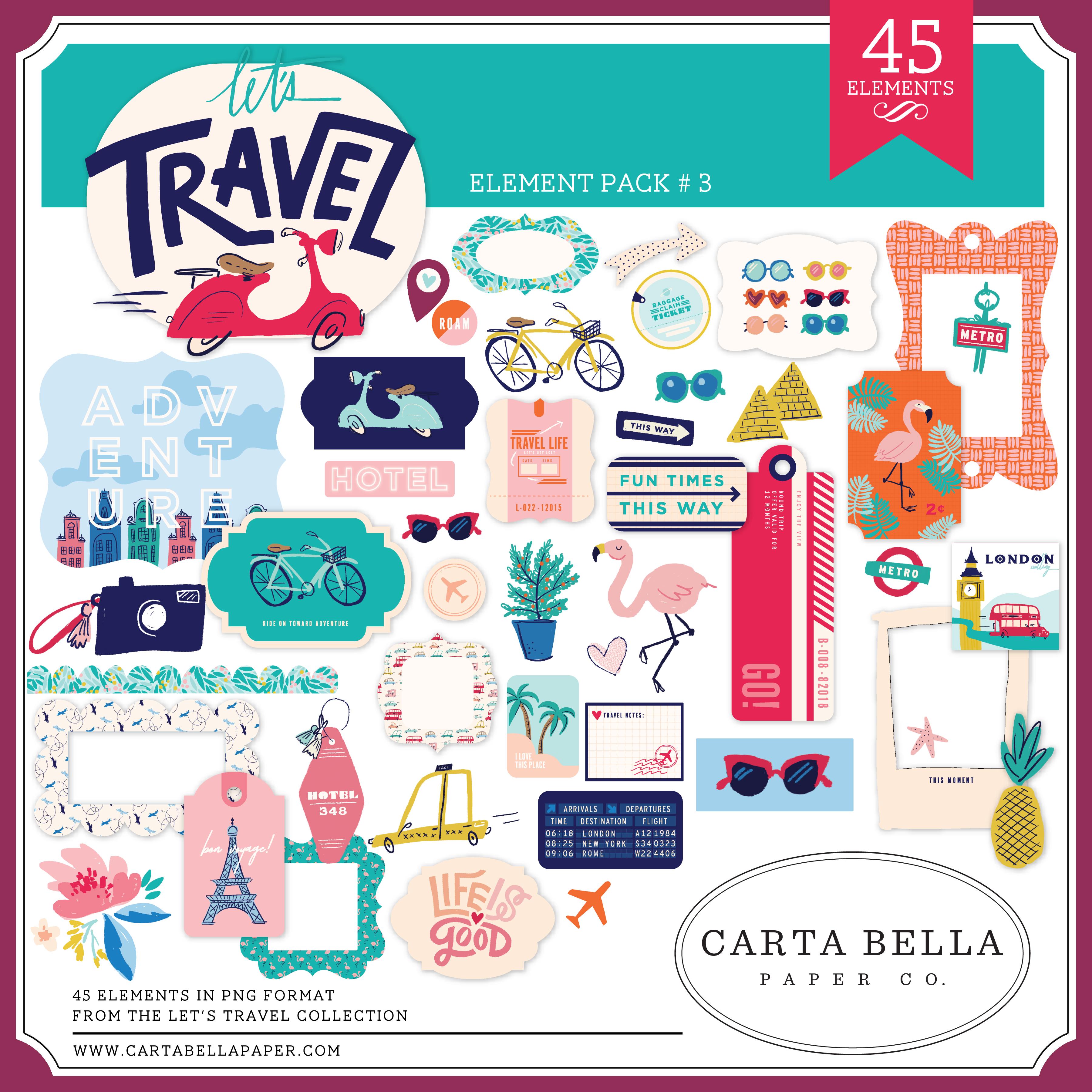 Let's Travel Element Pack #3