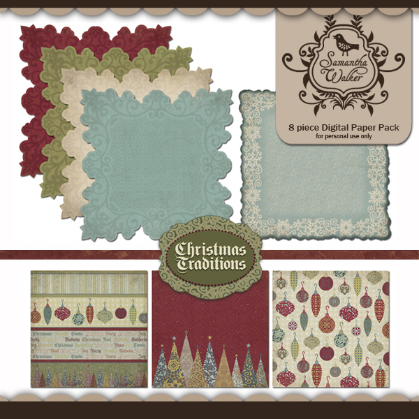 Christmas Traditions Designer papers