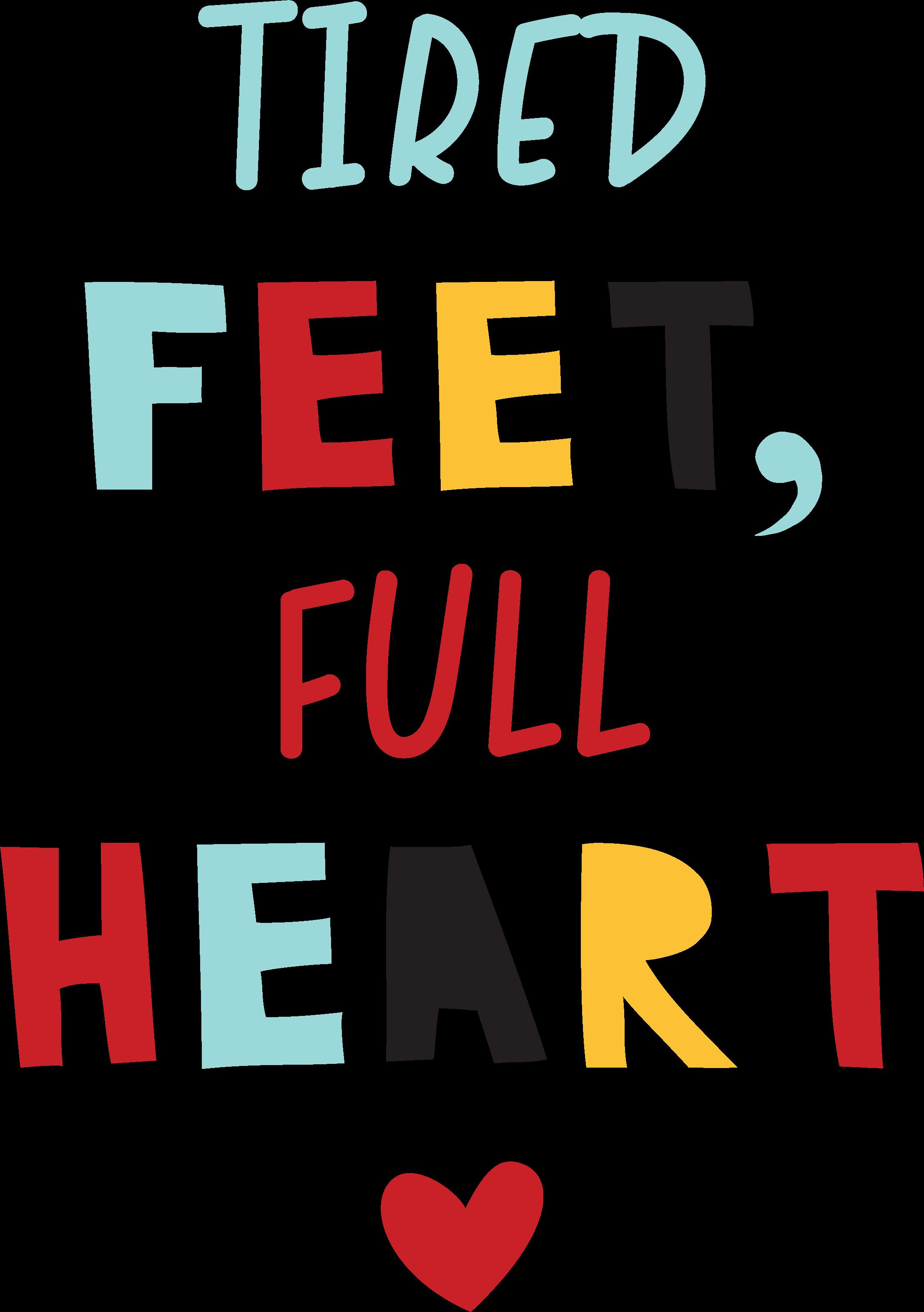 Tired Feet, Full Heart SVG Cut File