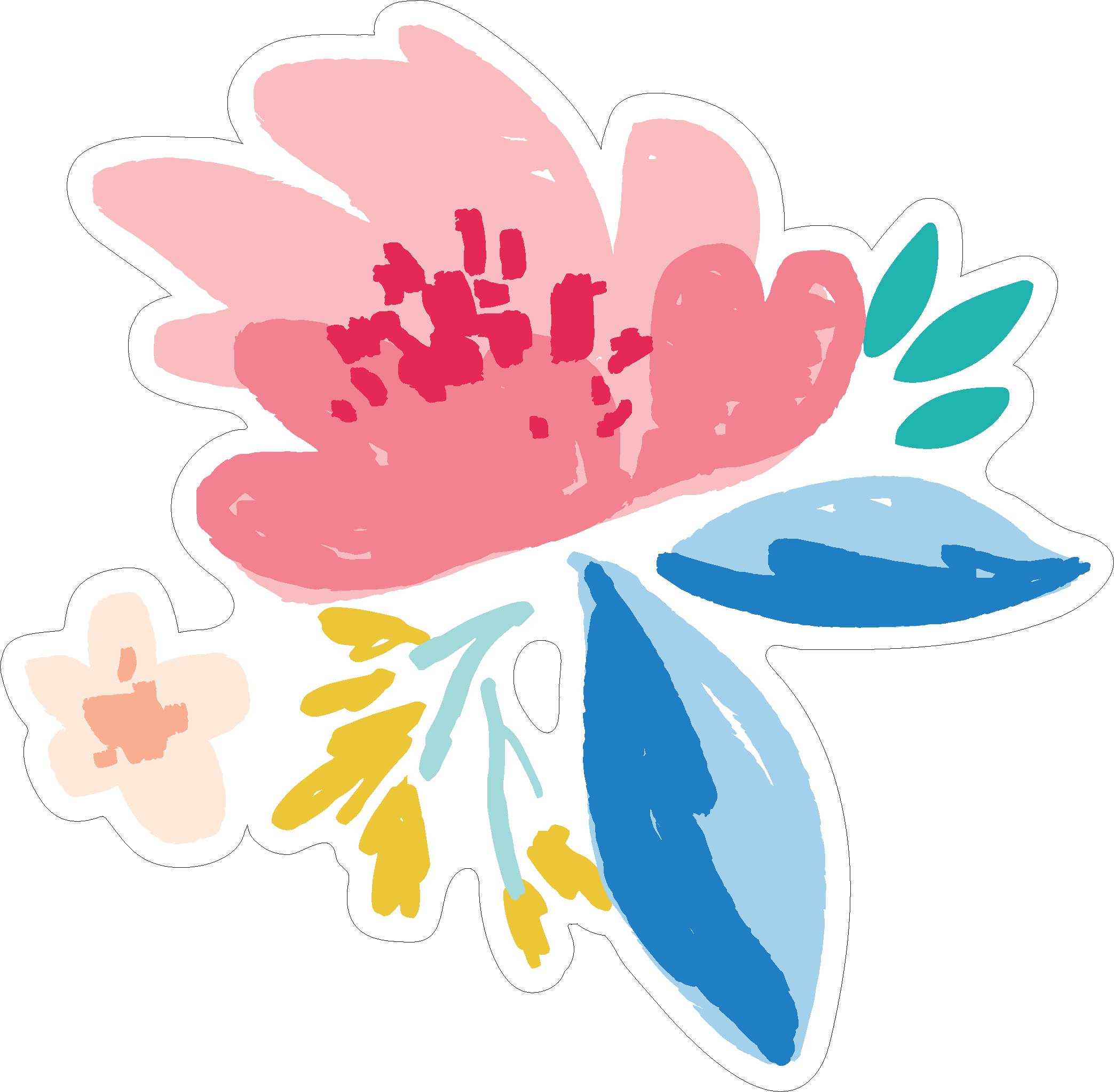 Let's Travel Flower Print & Cut File