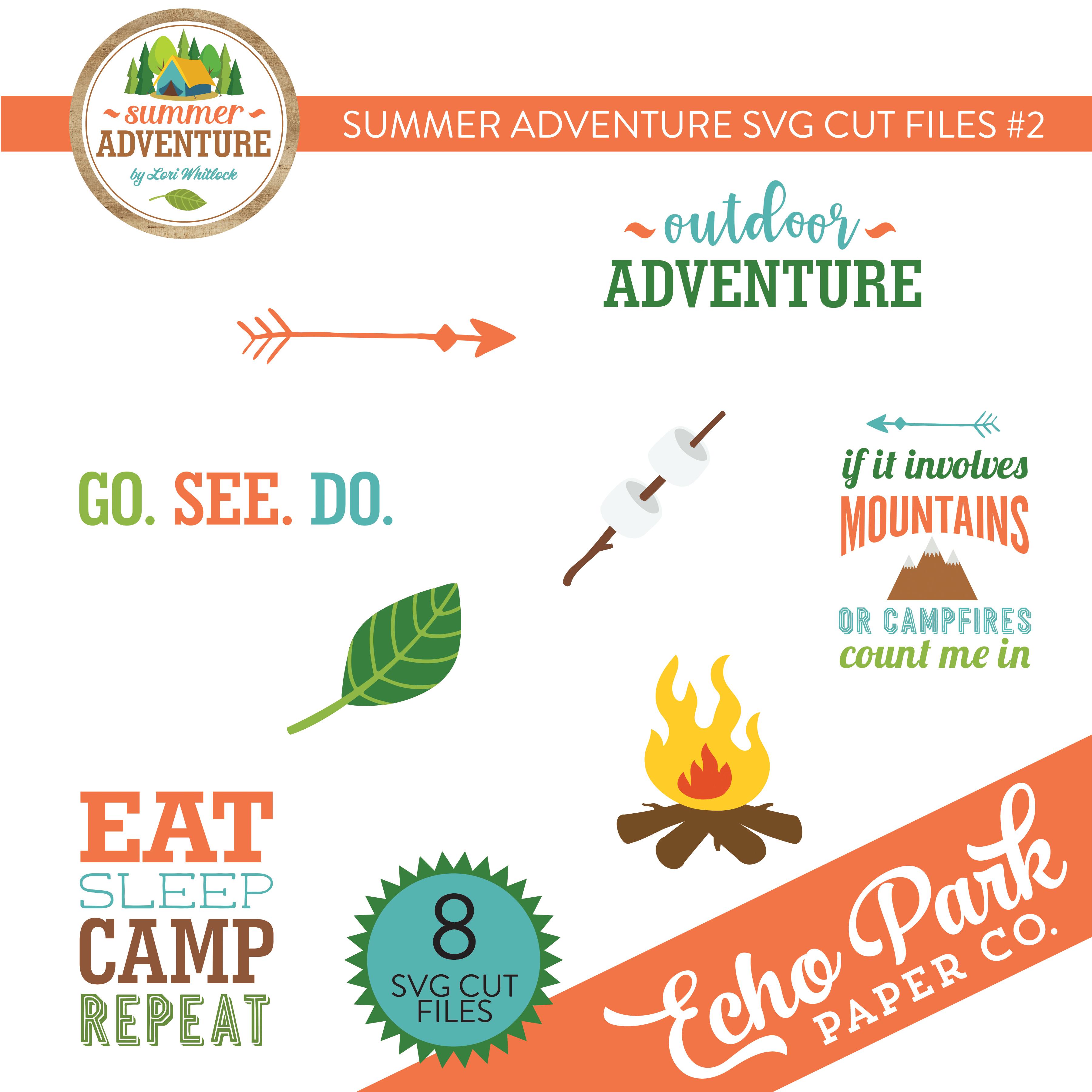 Summer Adventure SVG Cut Files #2