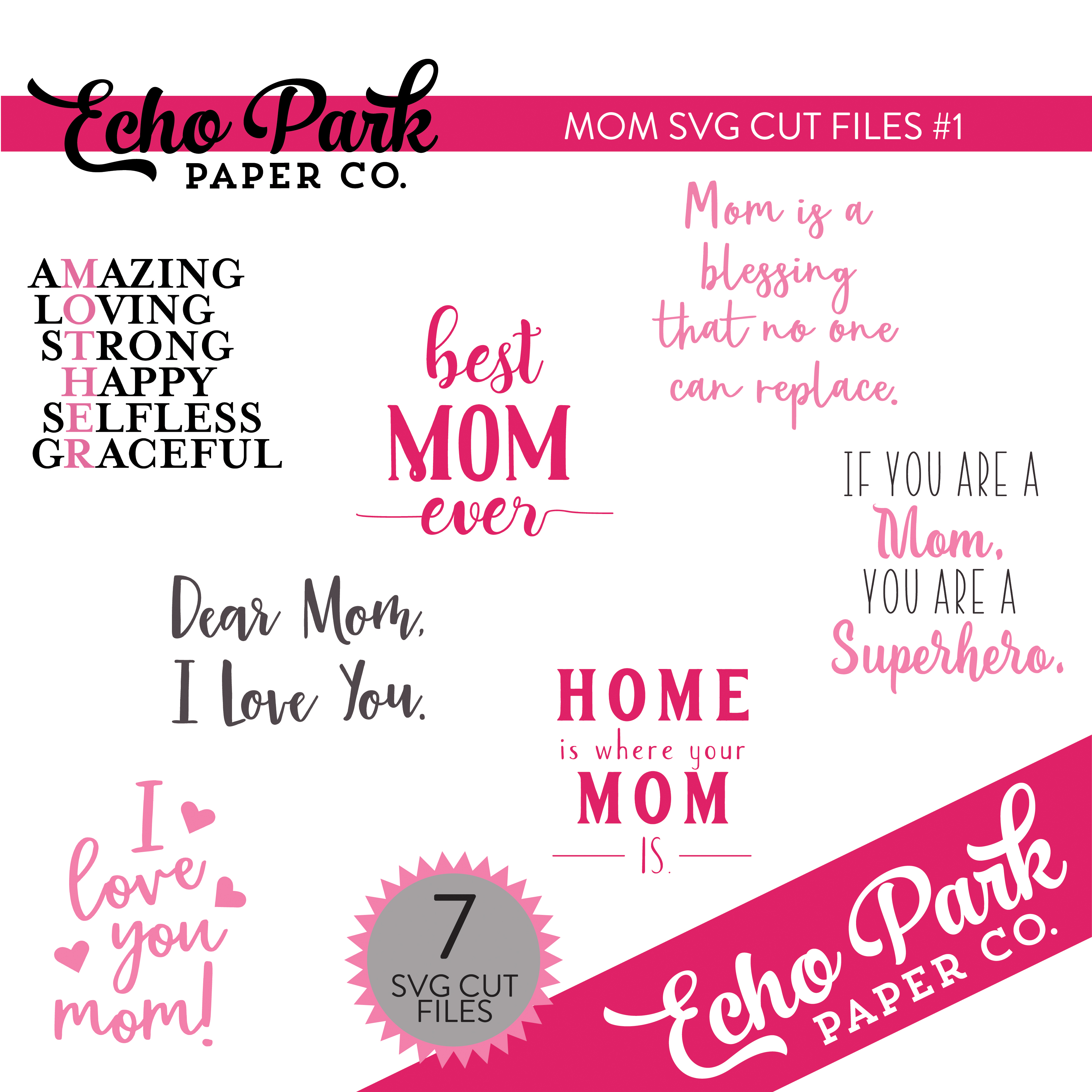Mom SVG Cut Files #1