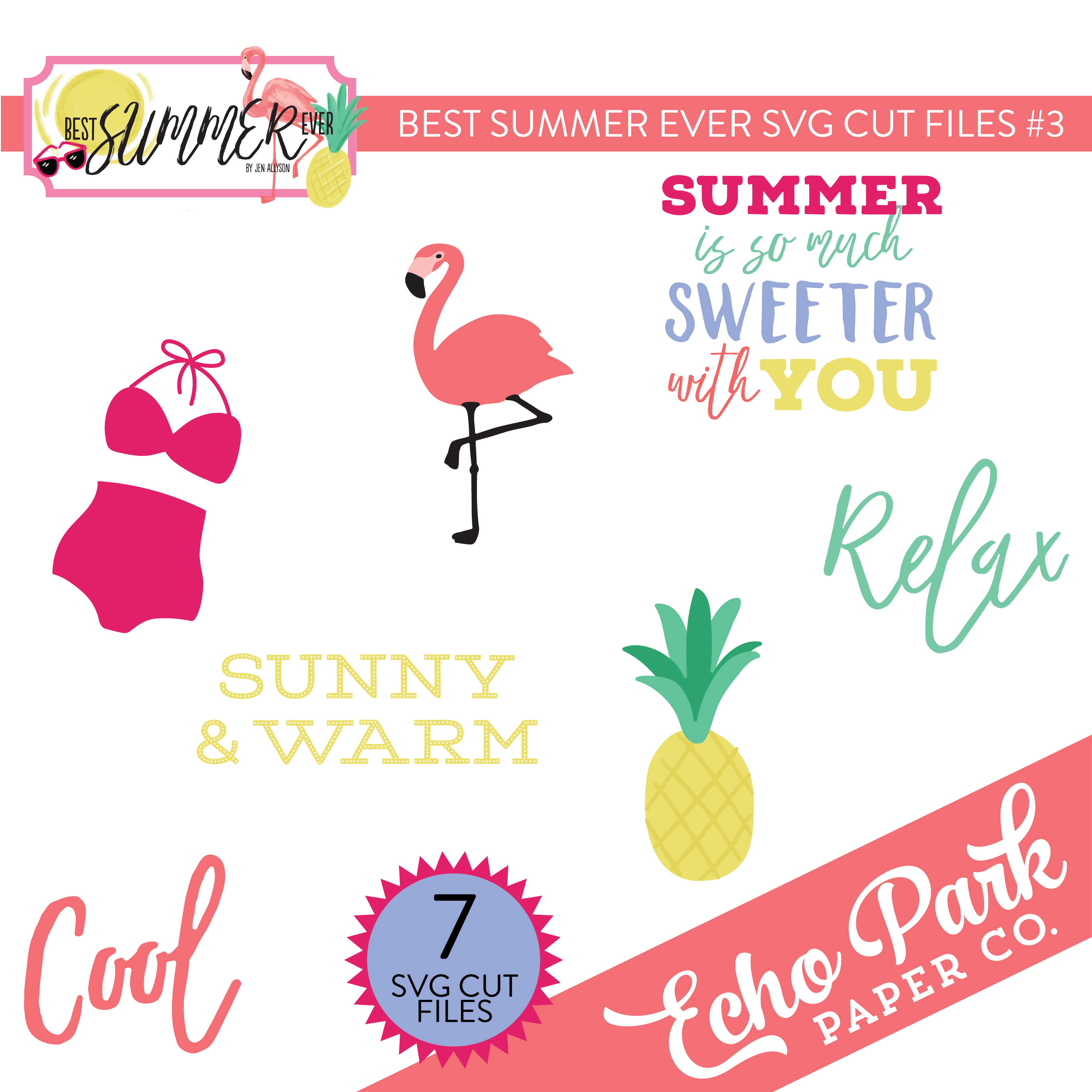 Best Summer Ever SVG Cut Files #3