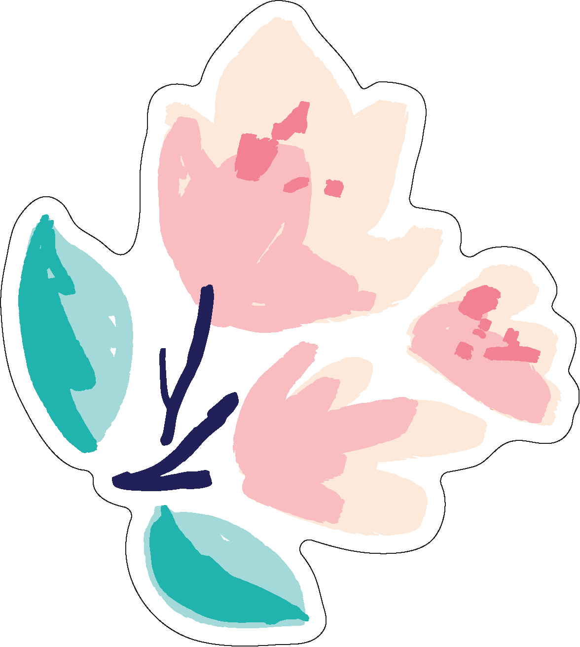 Let's Travel Flower #2 Print & Cut File