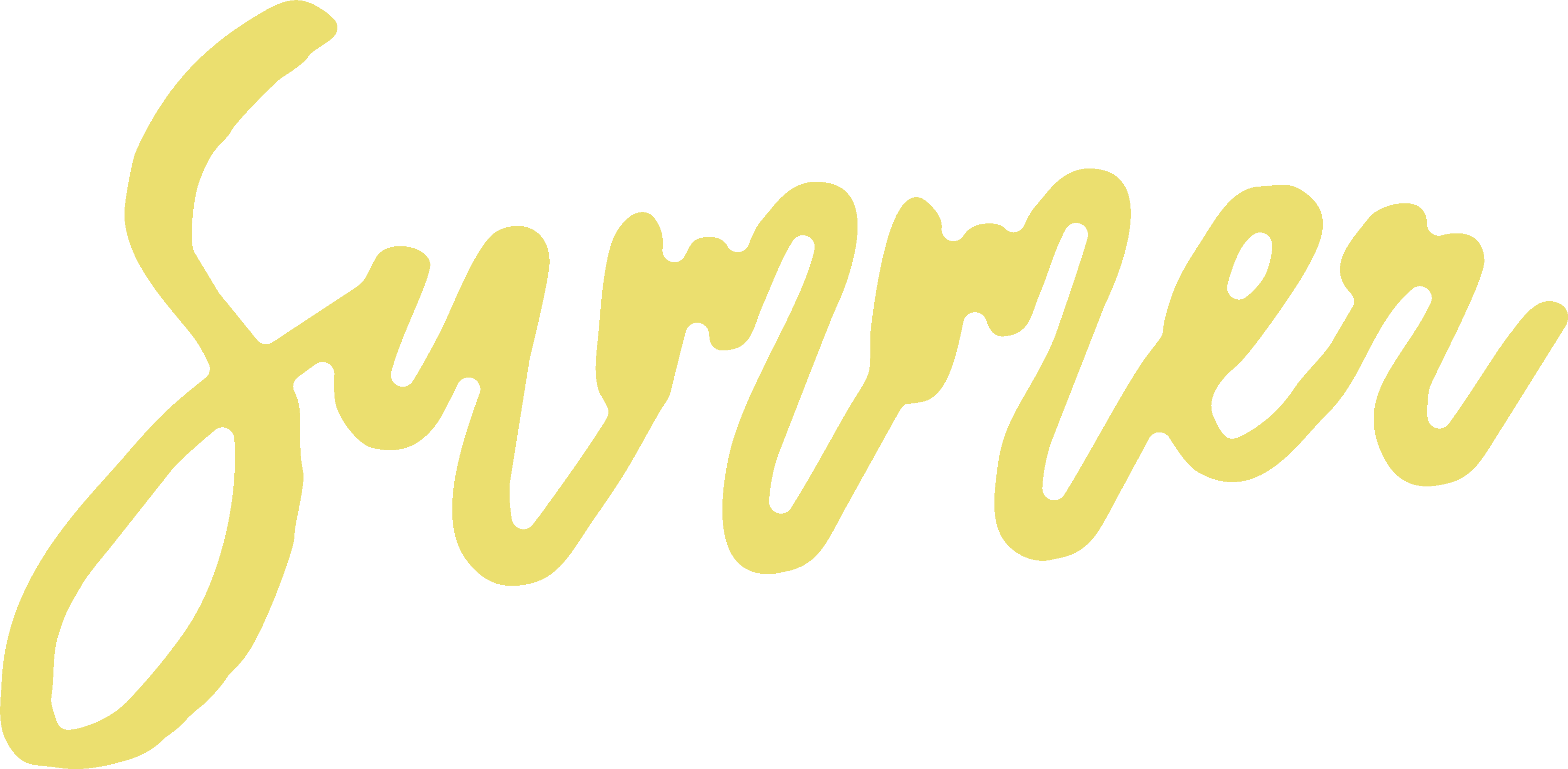 Summer Word SVG Cut File