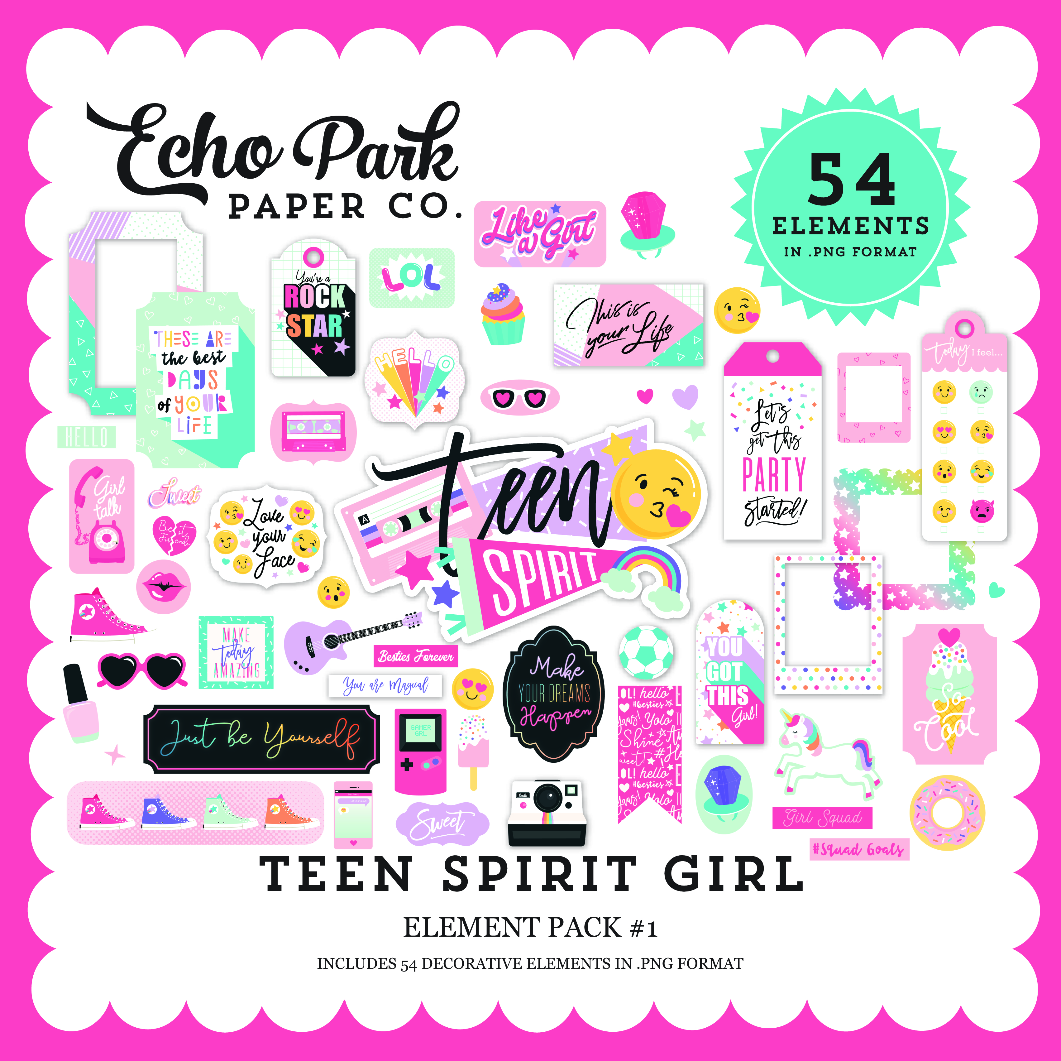 Teen Spirit Girl Element Pack #1