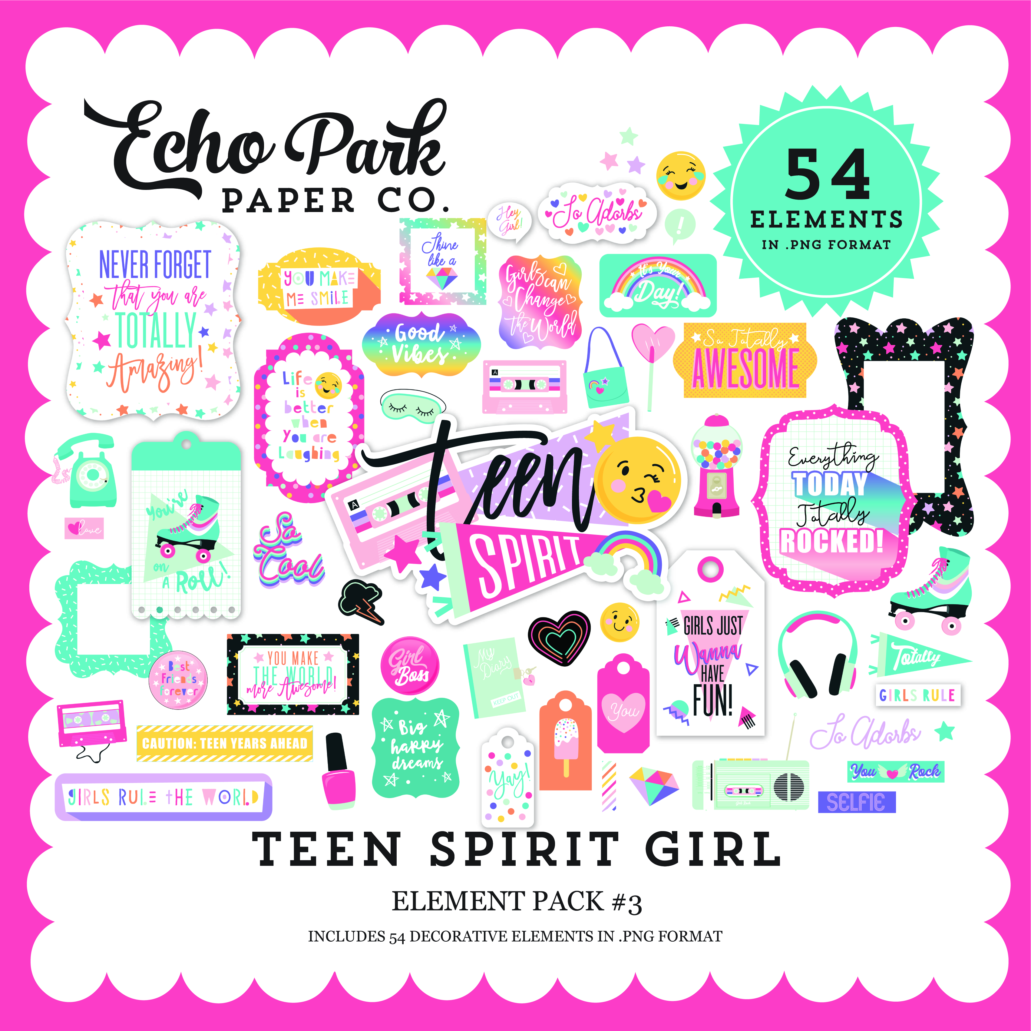Teen Spirit Girl Element Pack #3
