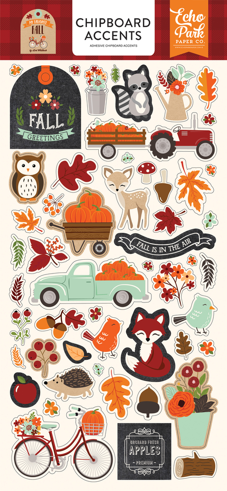 My Favorite Fall Chipboard Accents