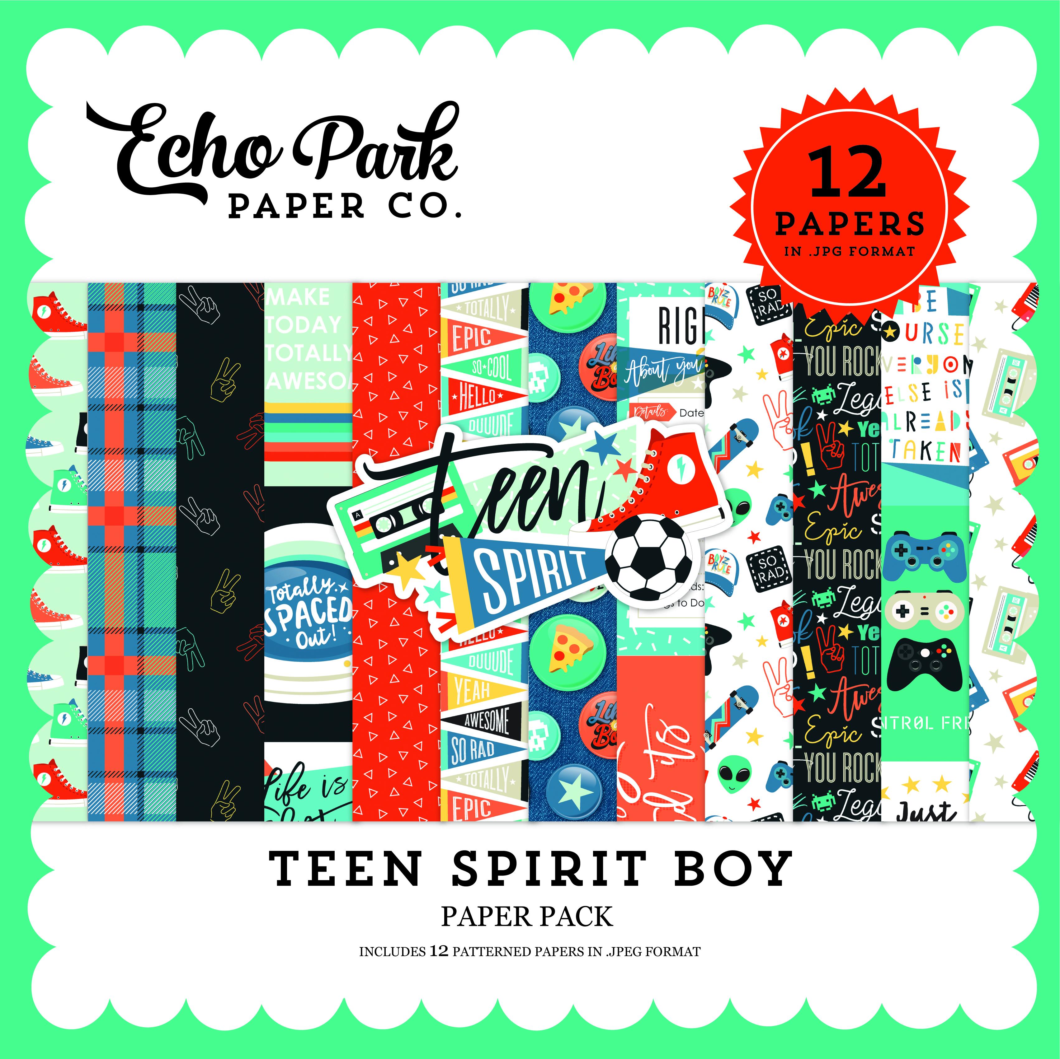 Teen Spirit Boy Paper Pack