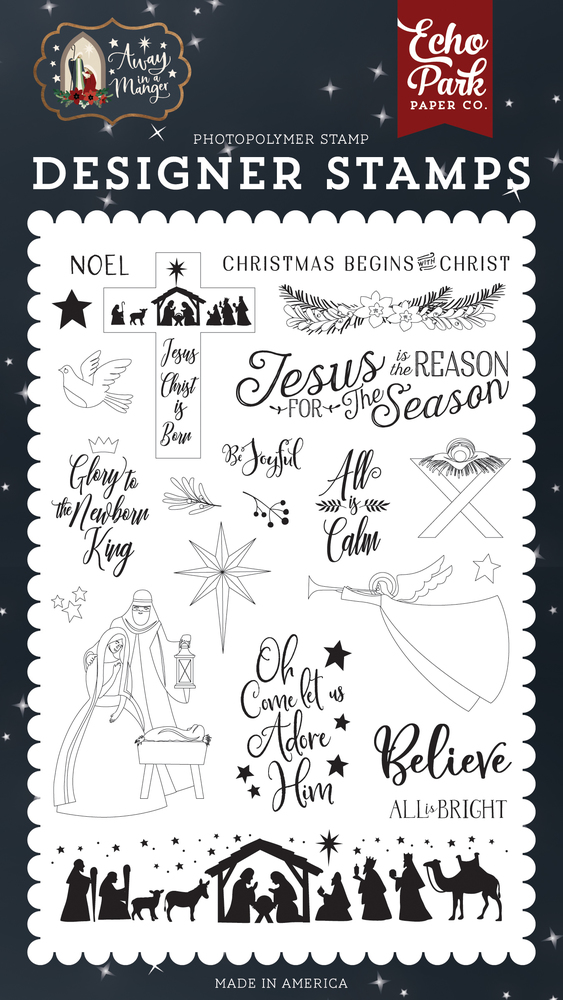 All Is Calm Stamp Set