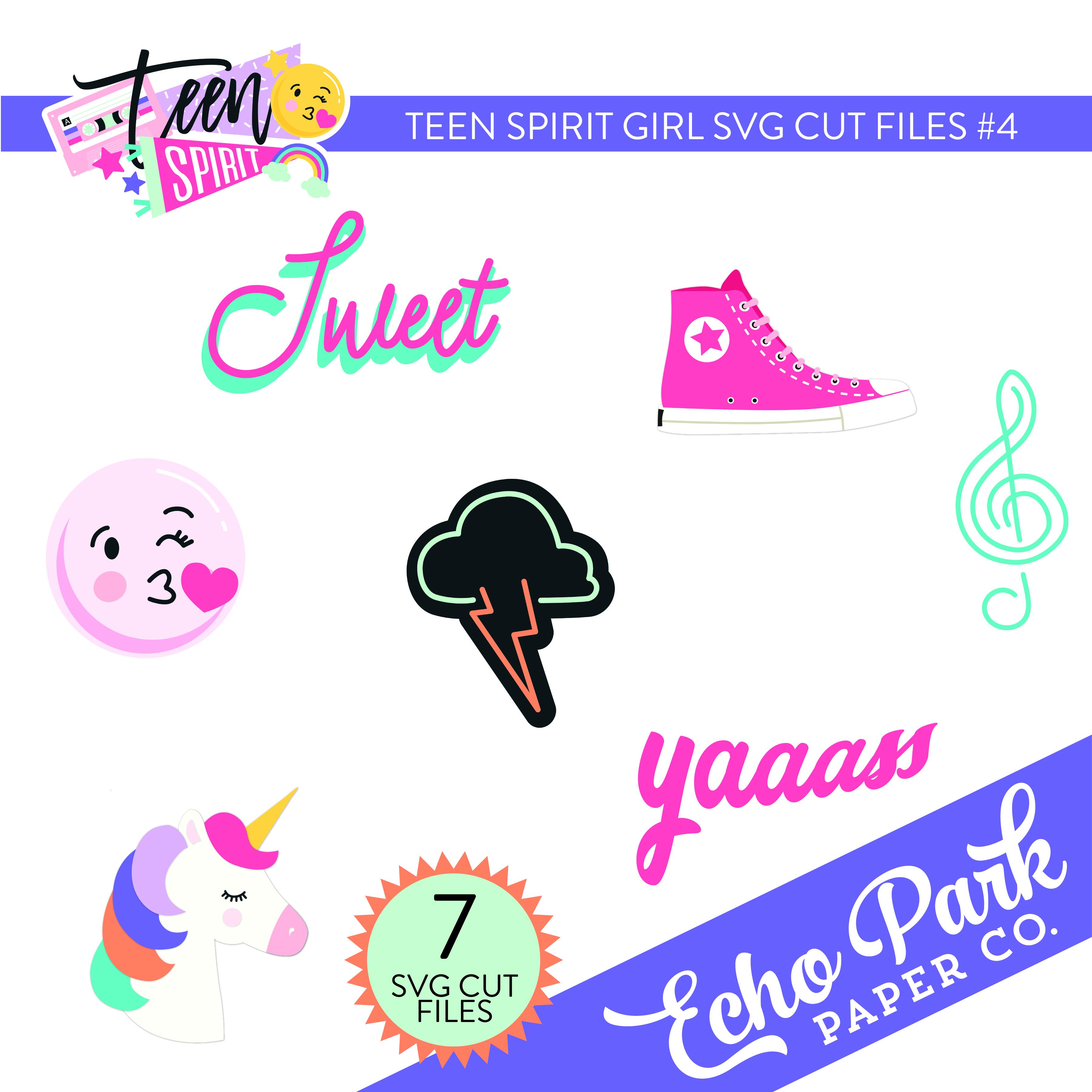 Teen Spirit Girl SVG Cut Files #4