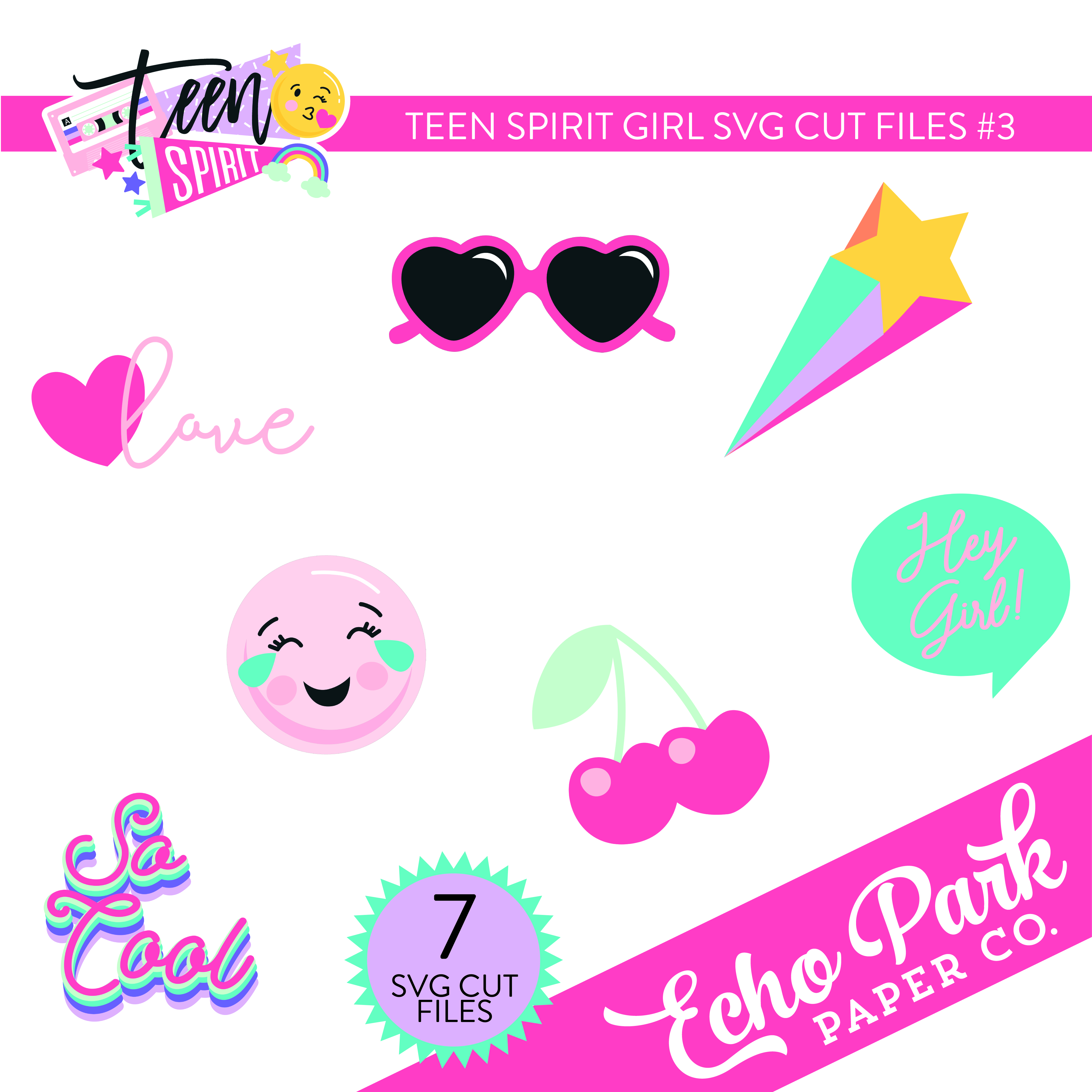 Teen Spirit Girl SVG Cut Files #3