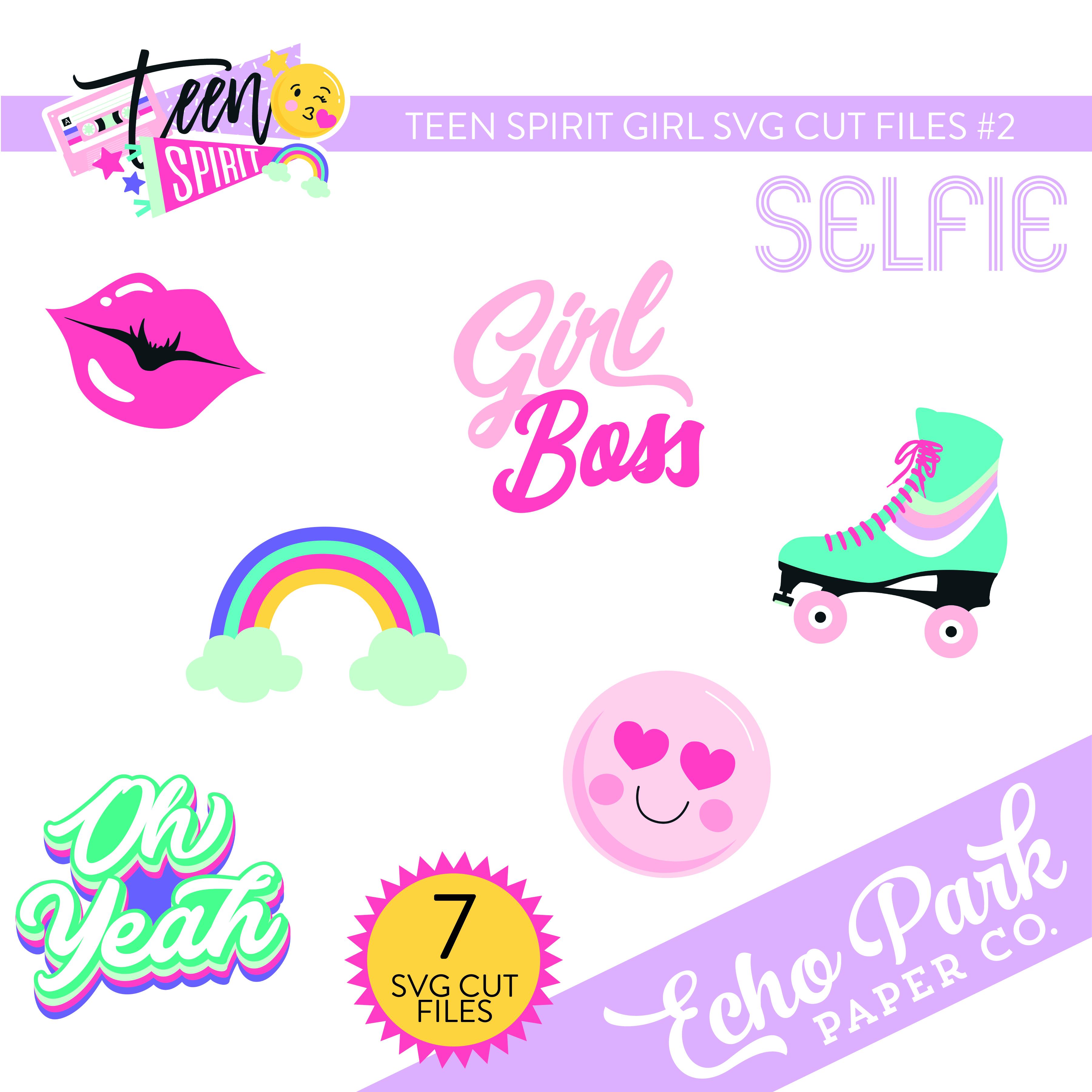 Teen Spirit Girl SVG Cut Files #2