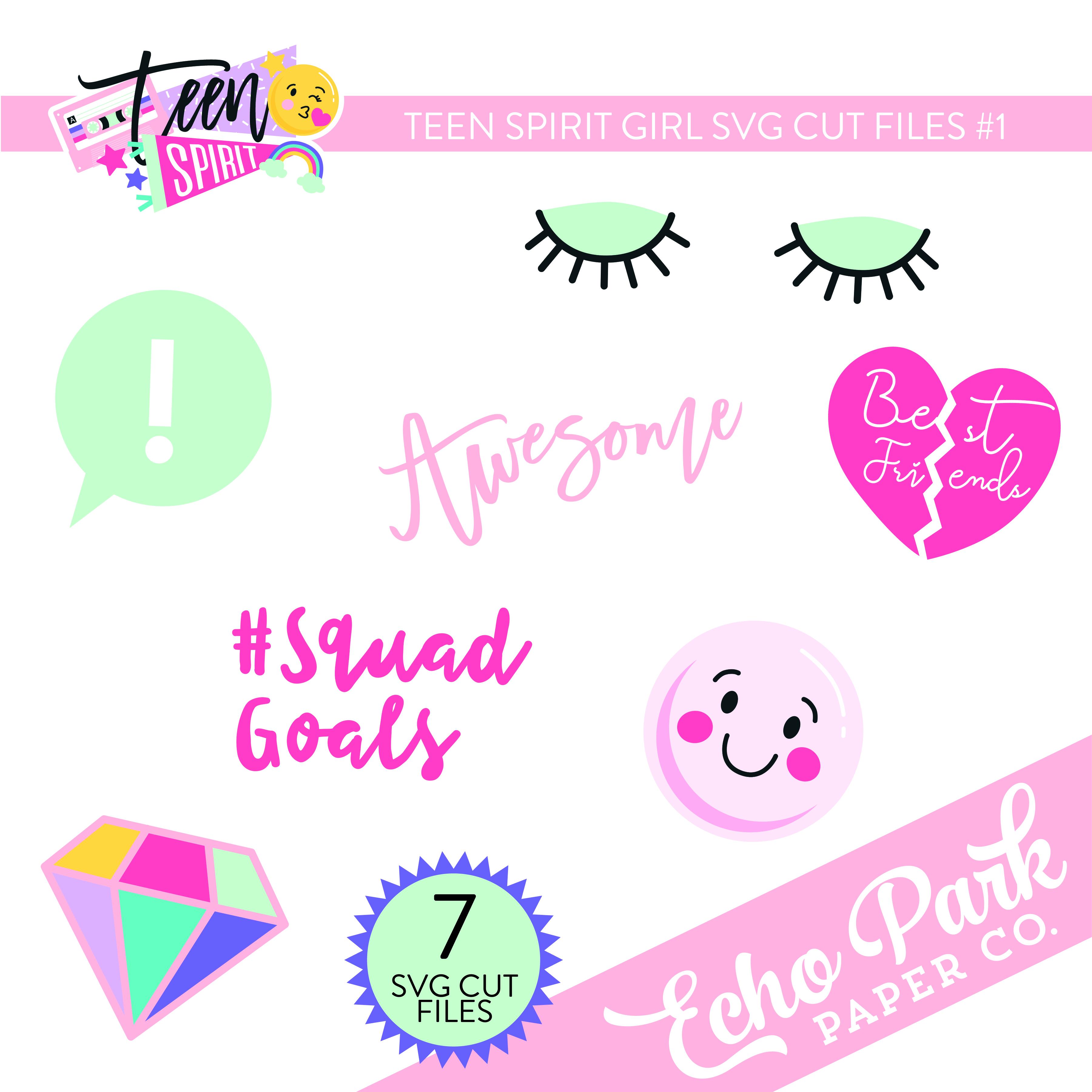 Teen Spirit Girl SVG Cut Files #1