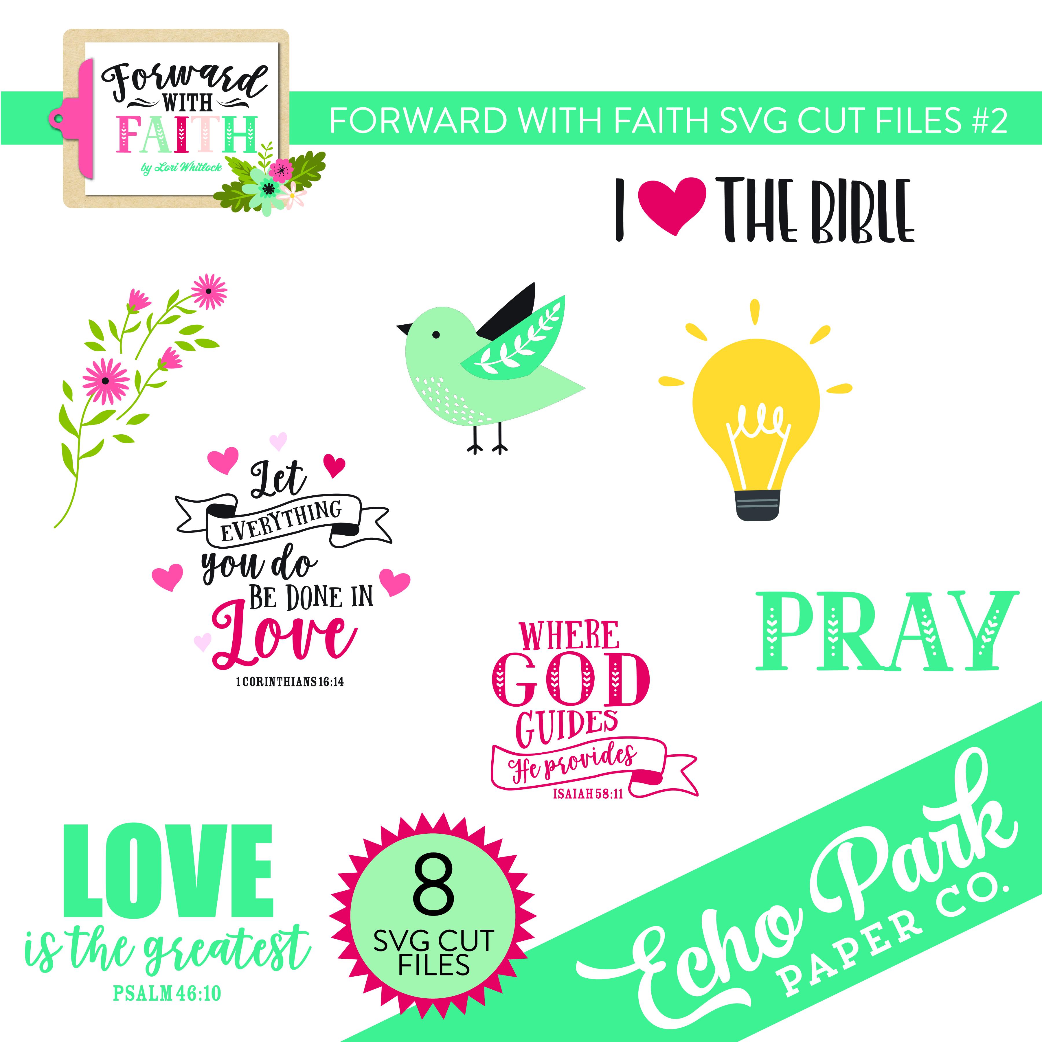 Forward With Faith SVG Cut Files #2