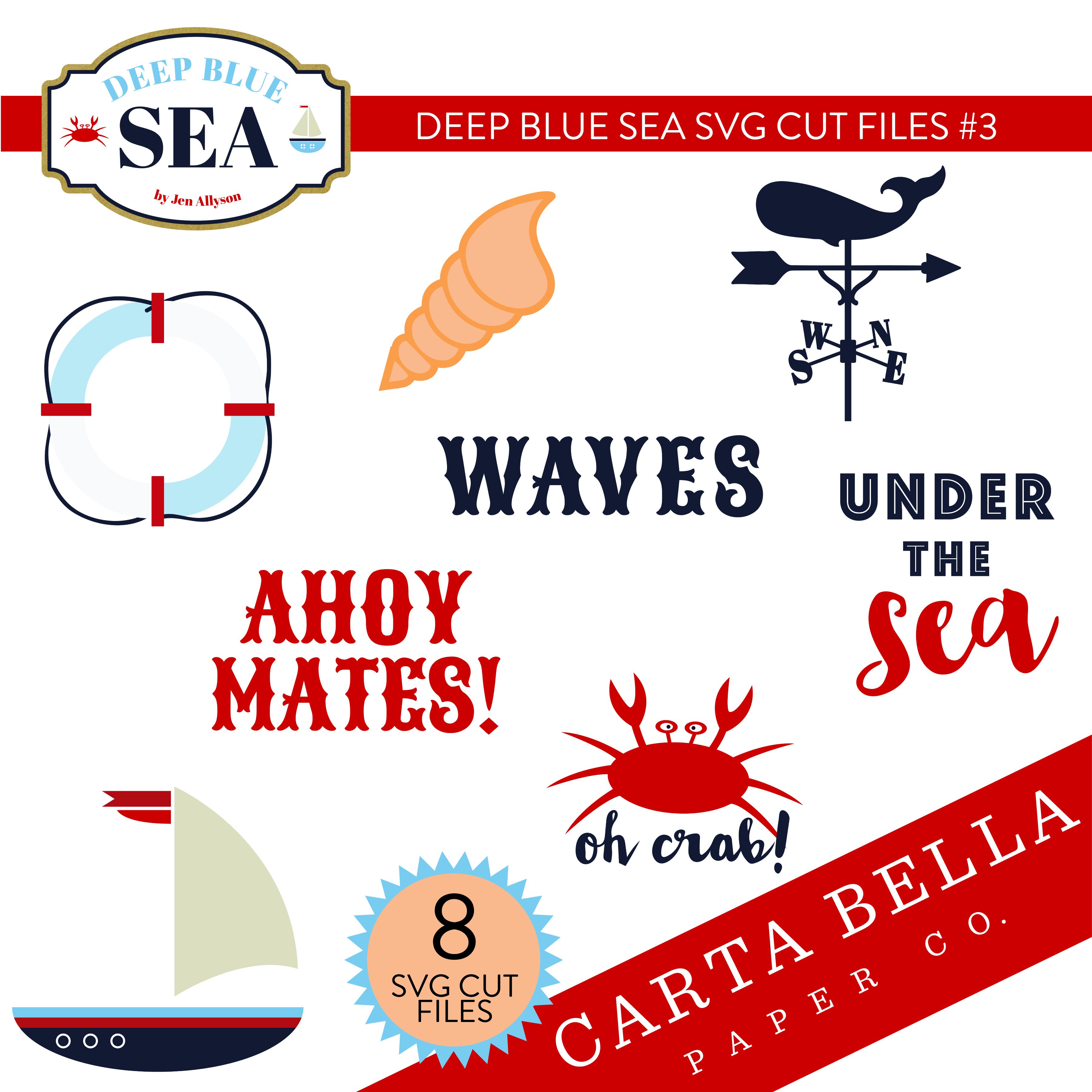 Deep Blue Sea SVG Cut Files #3