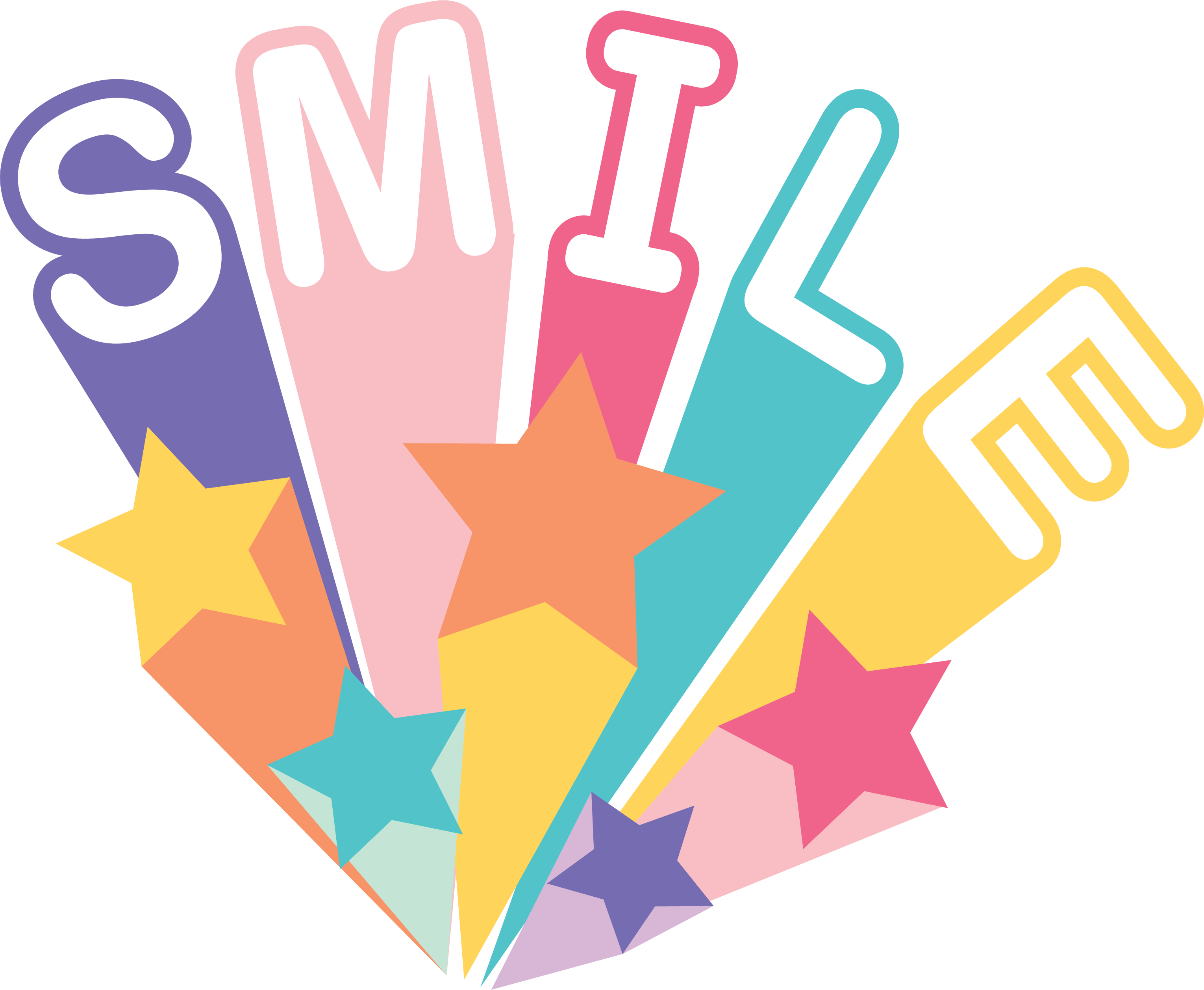 Smile and Stars SVG Cut File