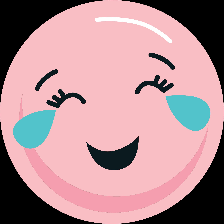 Laughing Emoji SVG Cut File