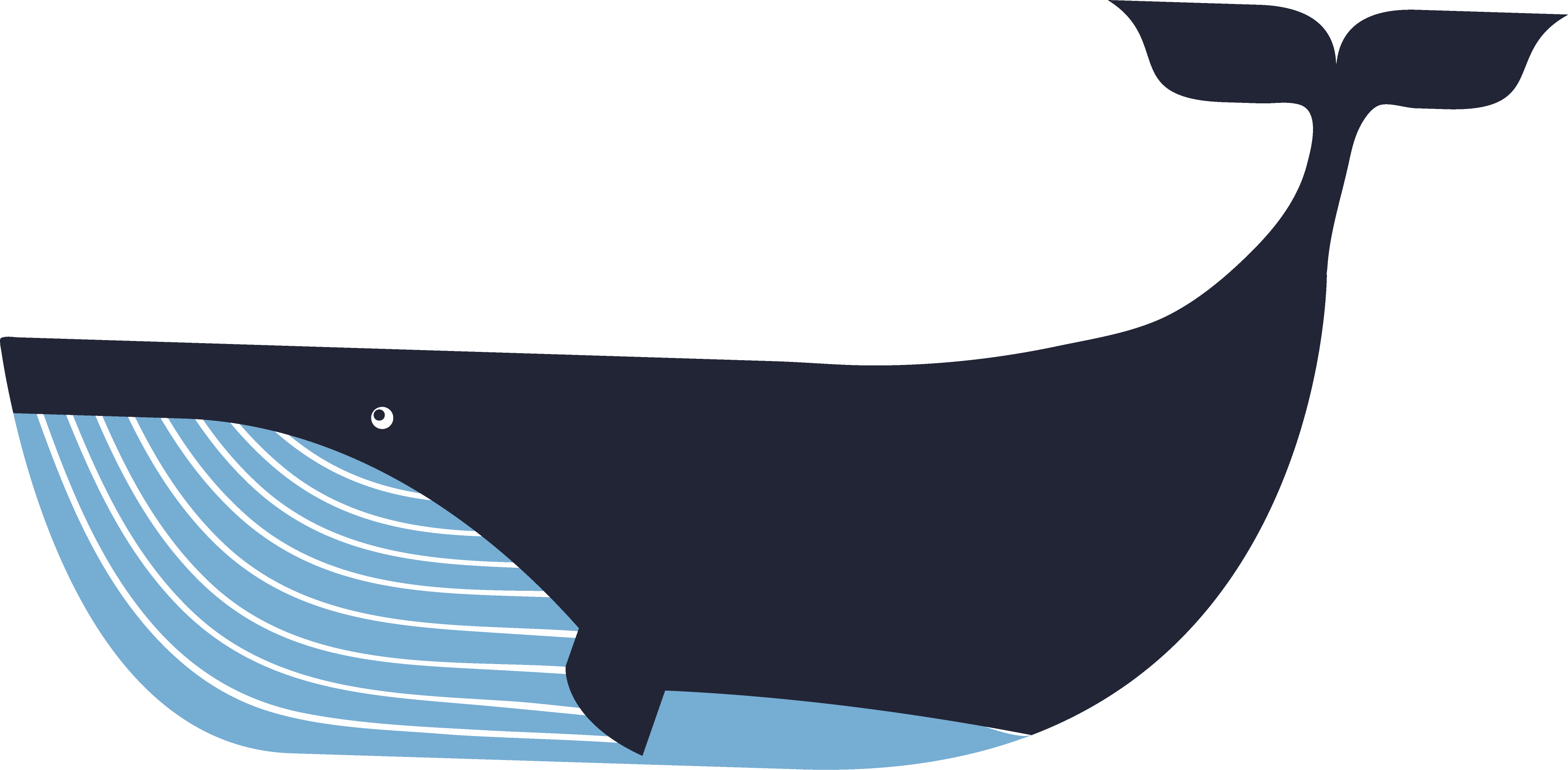 Deep Blue Sea Whale SVG Cut File