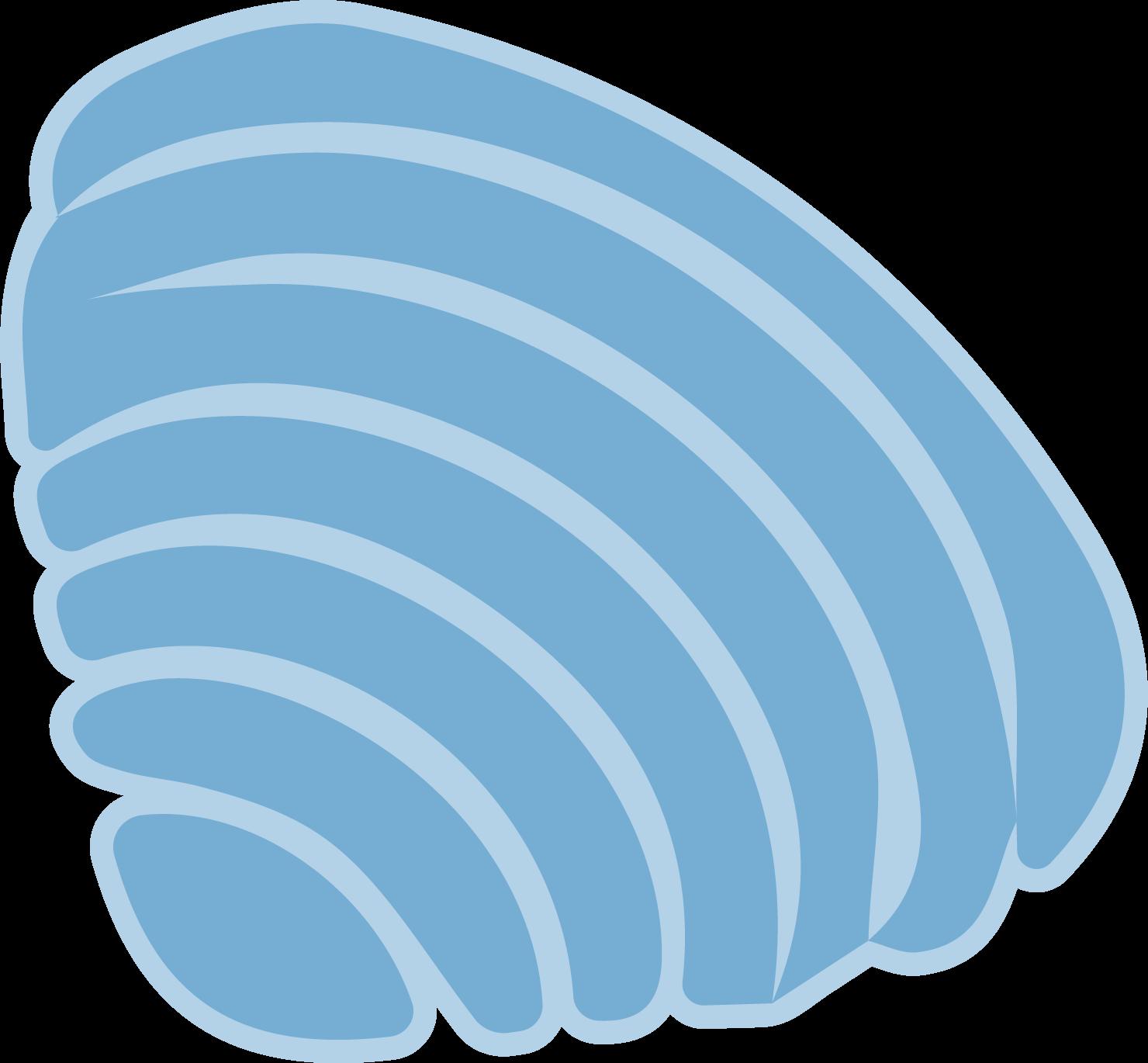 Deep Blue Seashell #2 SVG Cut File
