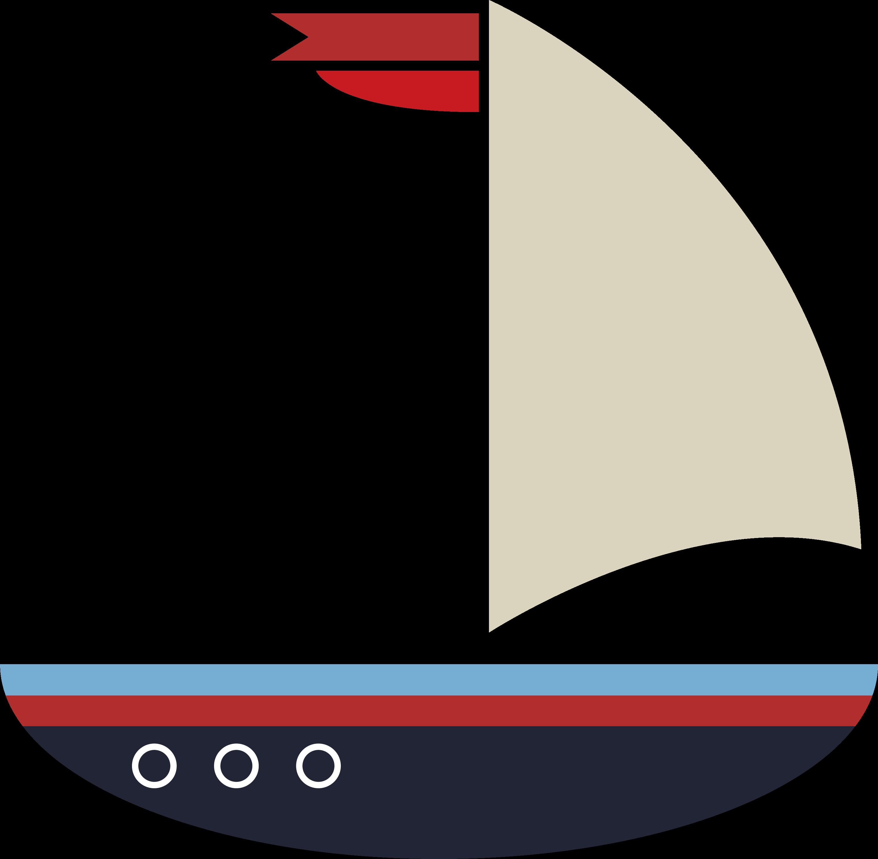 Deep Blue Sea Sailboat SVG Cut File