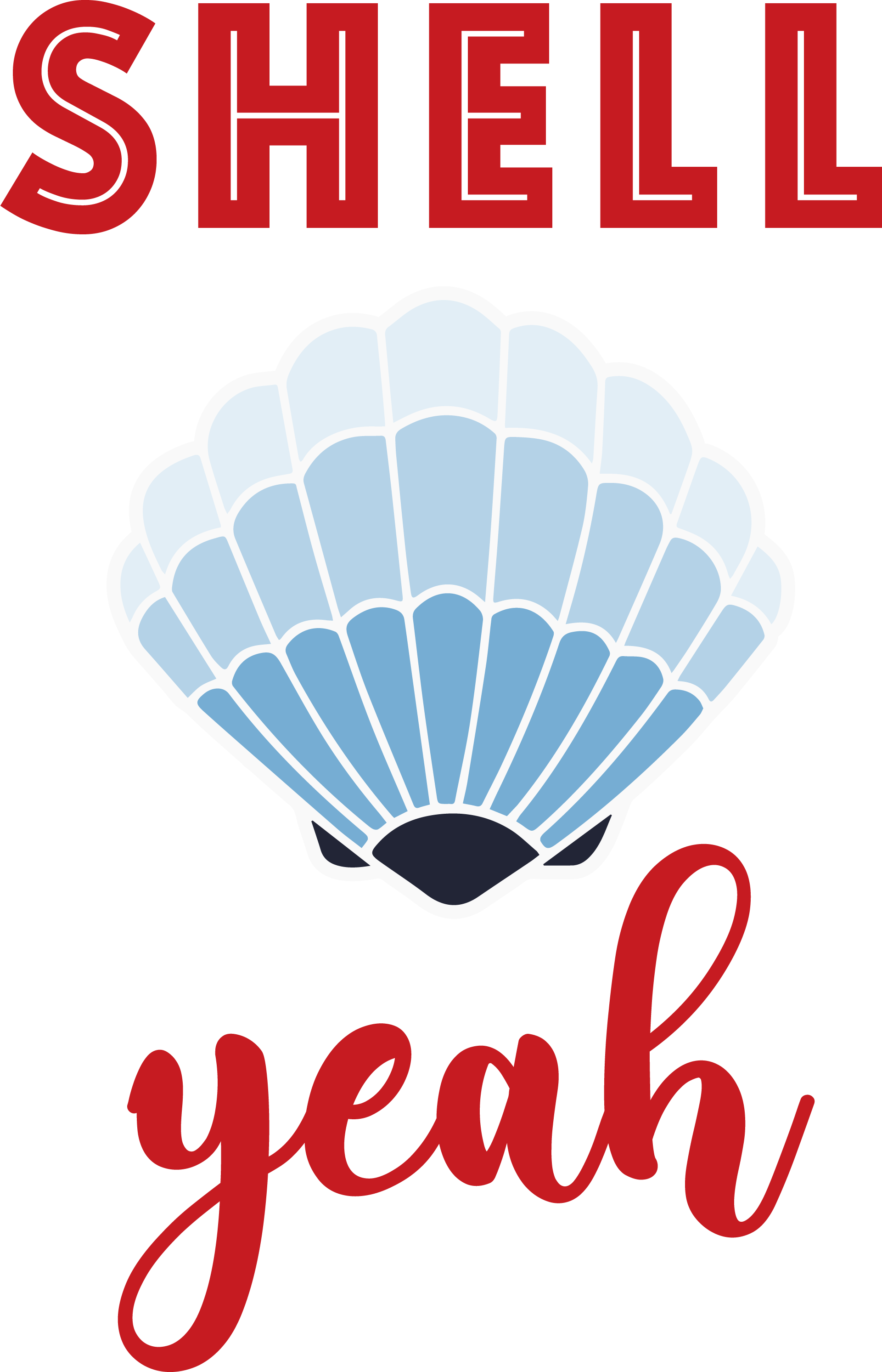 Shell Yeah  Seashell SVG Cut File