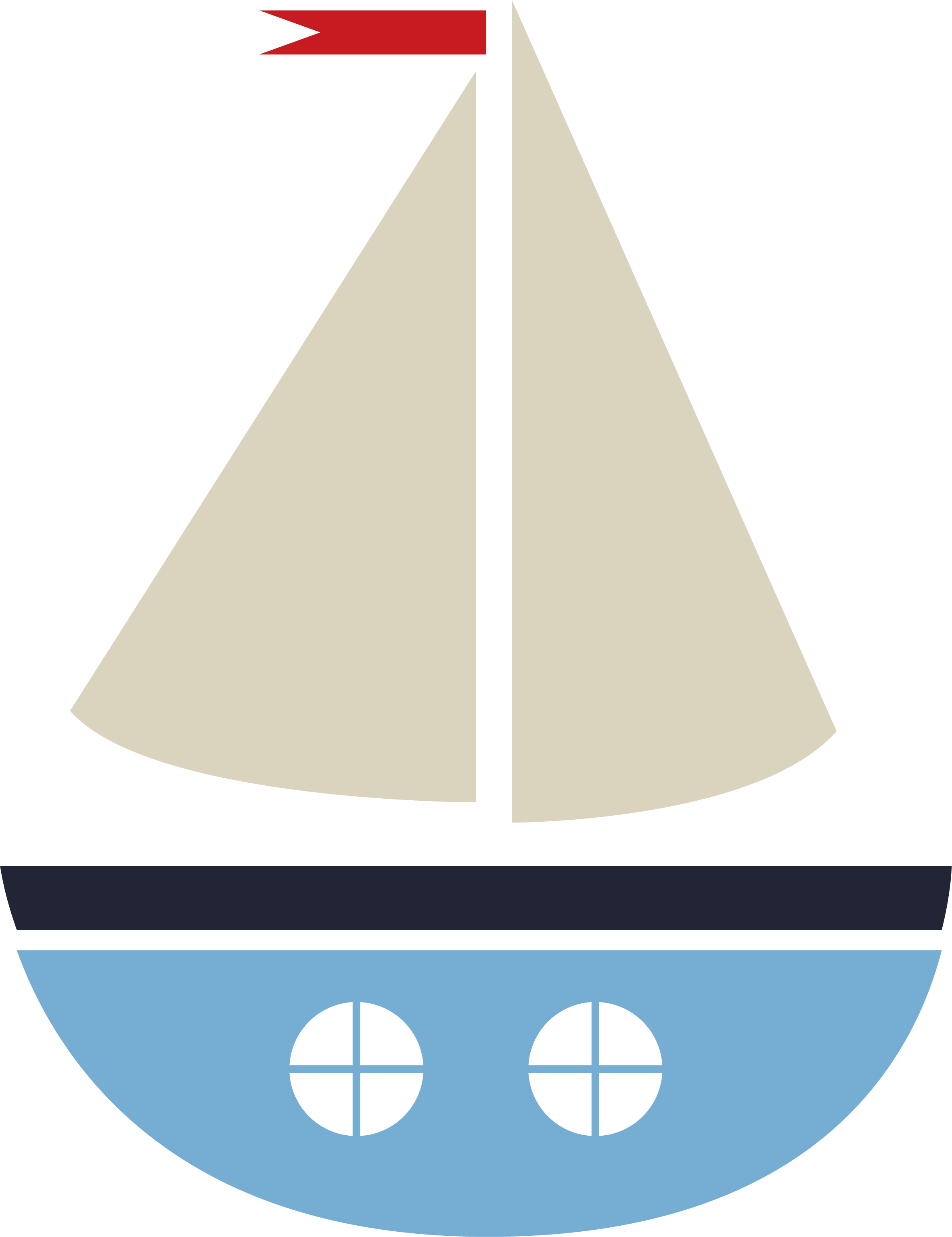 Deep Blue Sea Sailboat #3 SVG Cut File