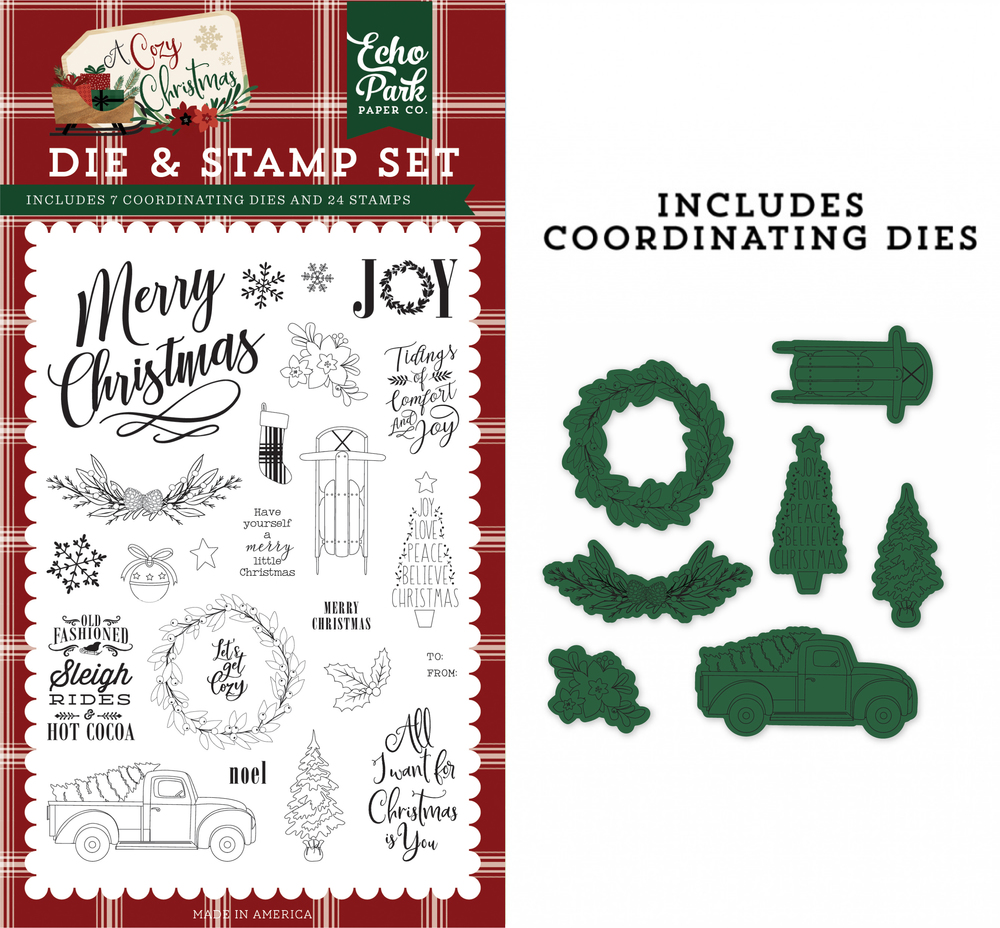 Let's Get Cozy Die & Stamp Set