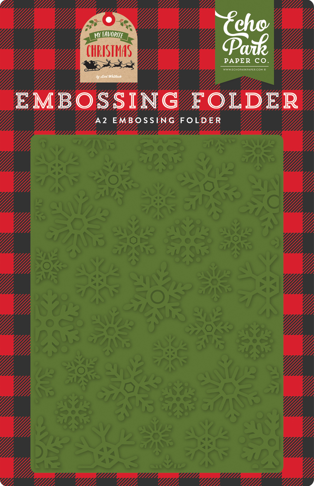 Christmas Snowfall Embossing Folder