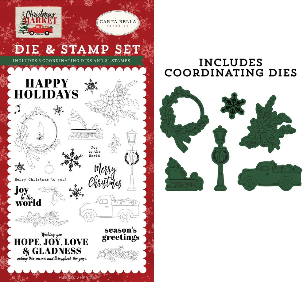 Happy Holidays Die & Stamp Set