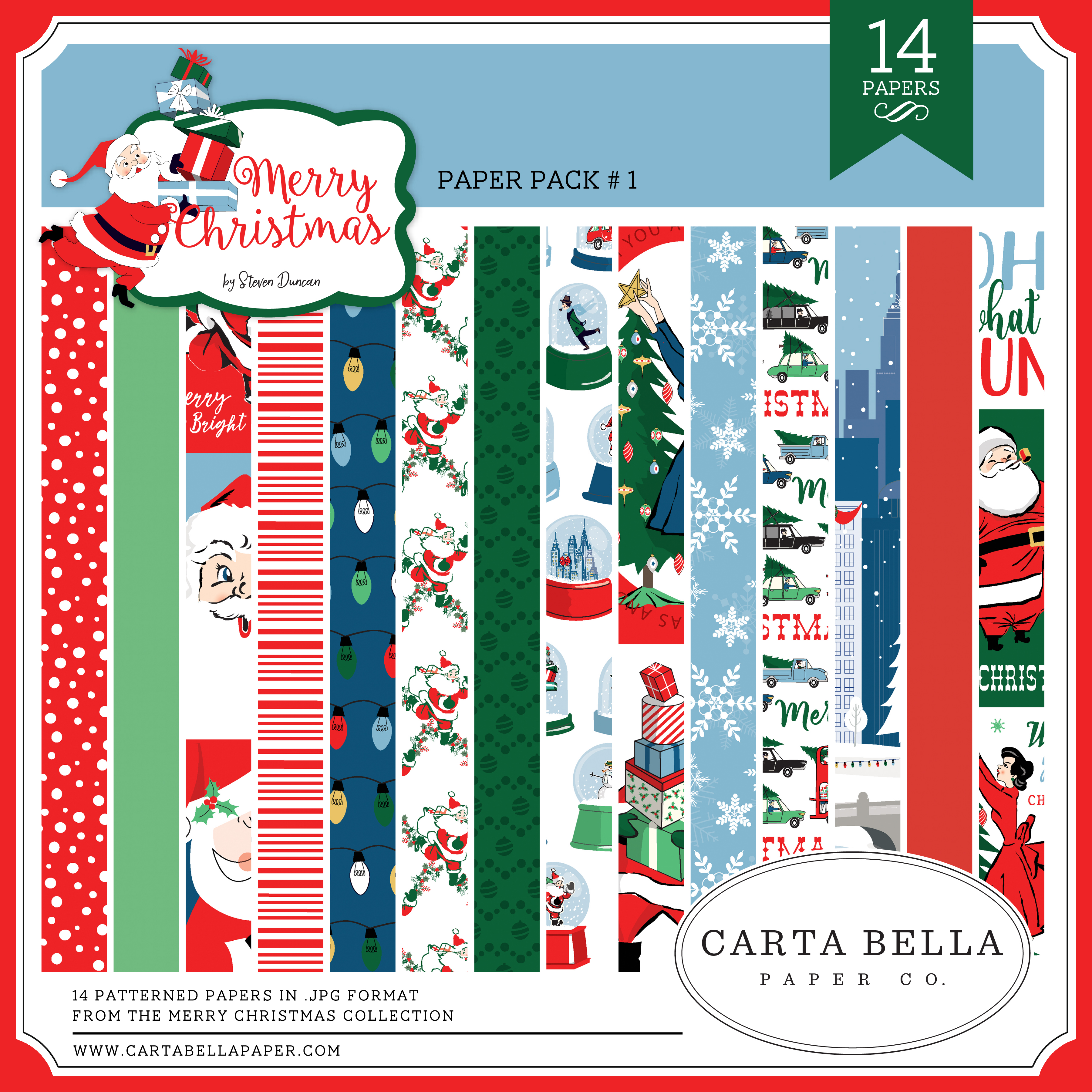 Merry Christmas CB Paper Pack #1