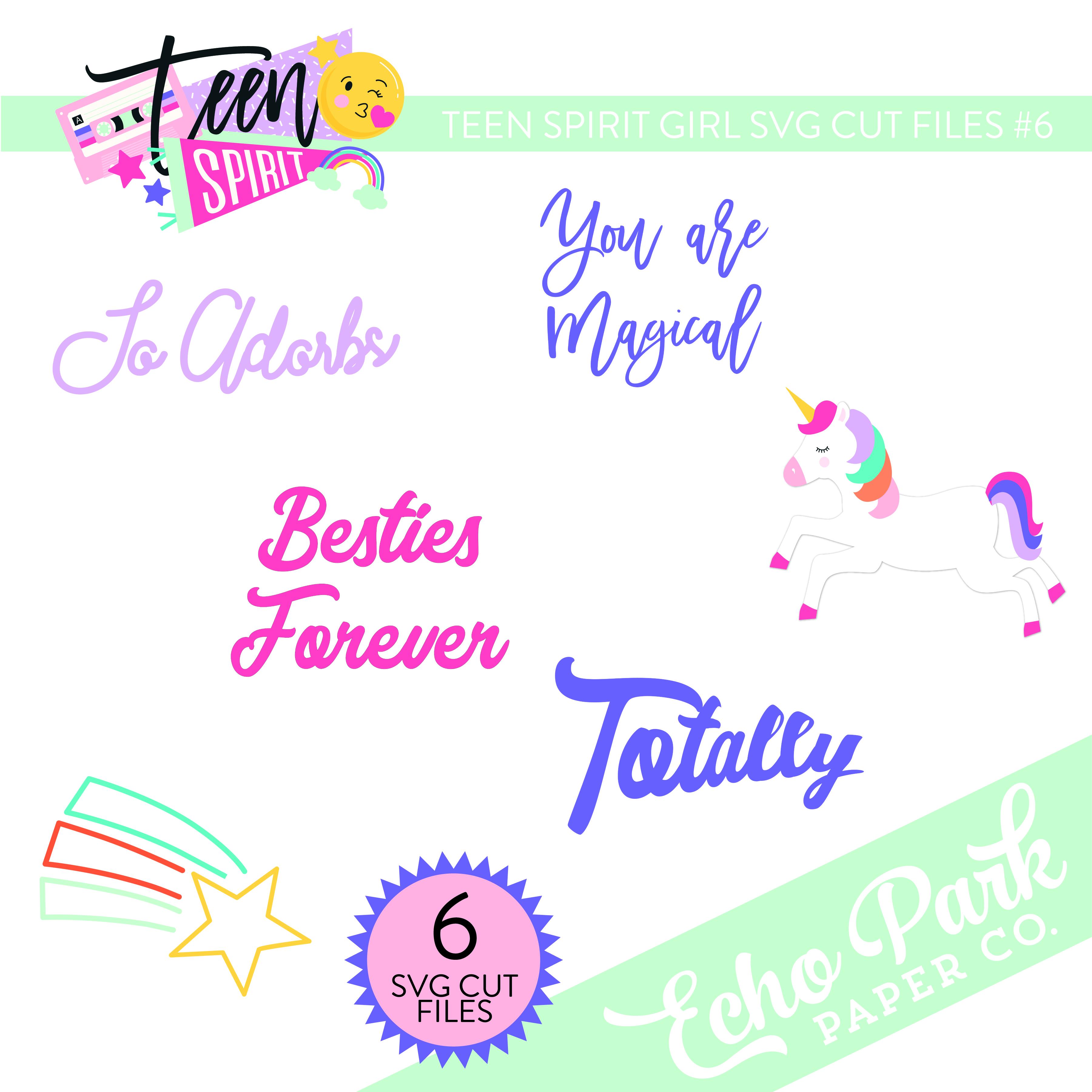 Teen Spirit Girl SVG Cut Files #6