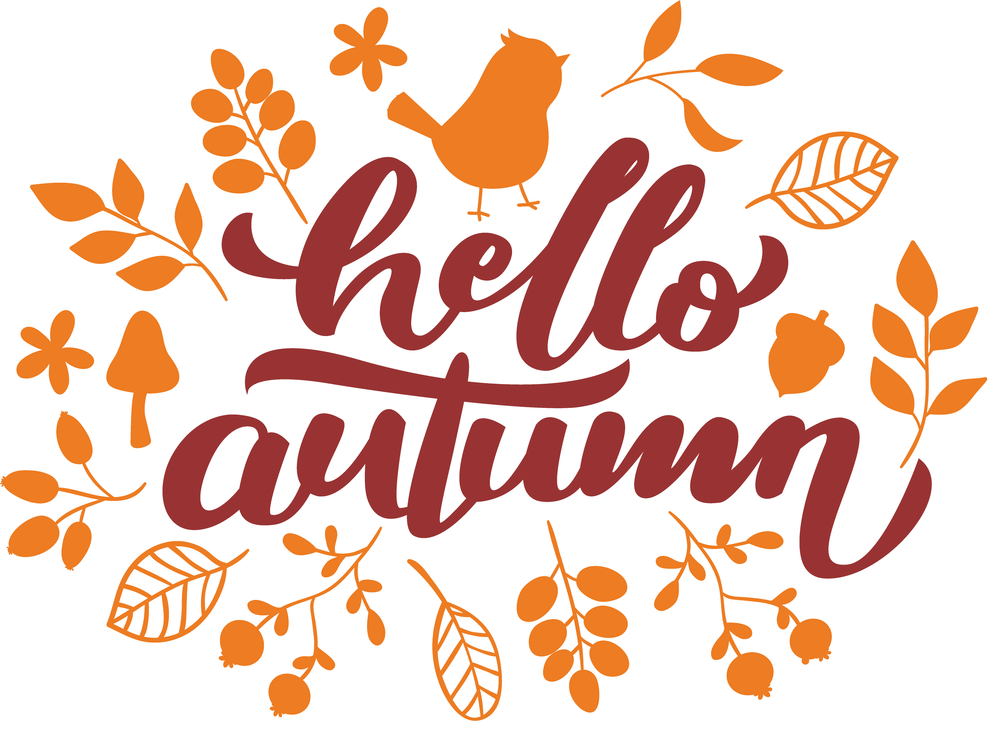 Hello Autumn SVG Cut File