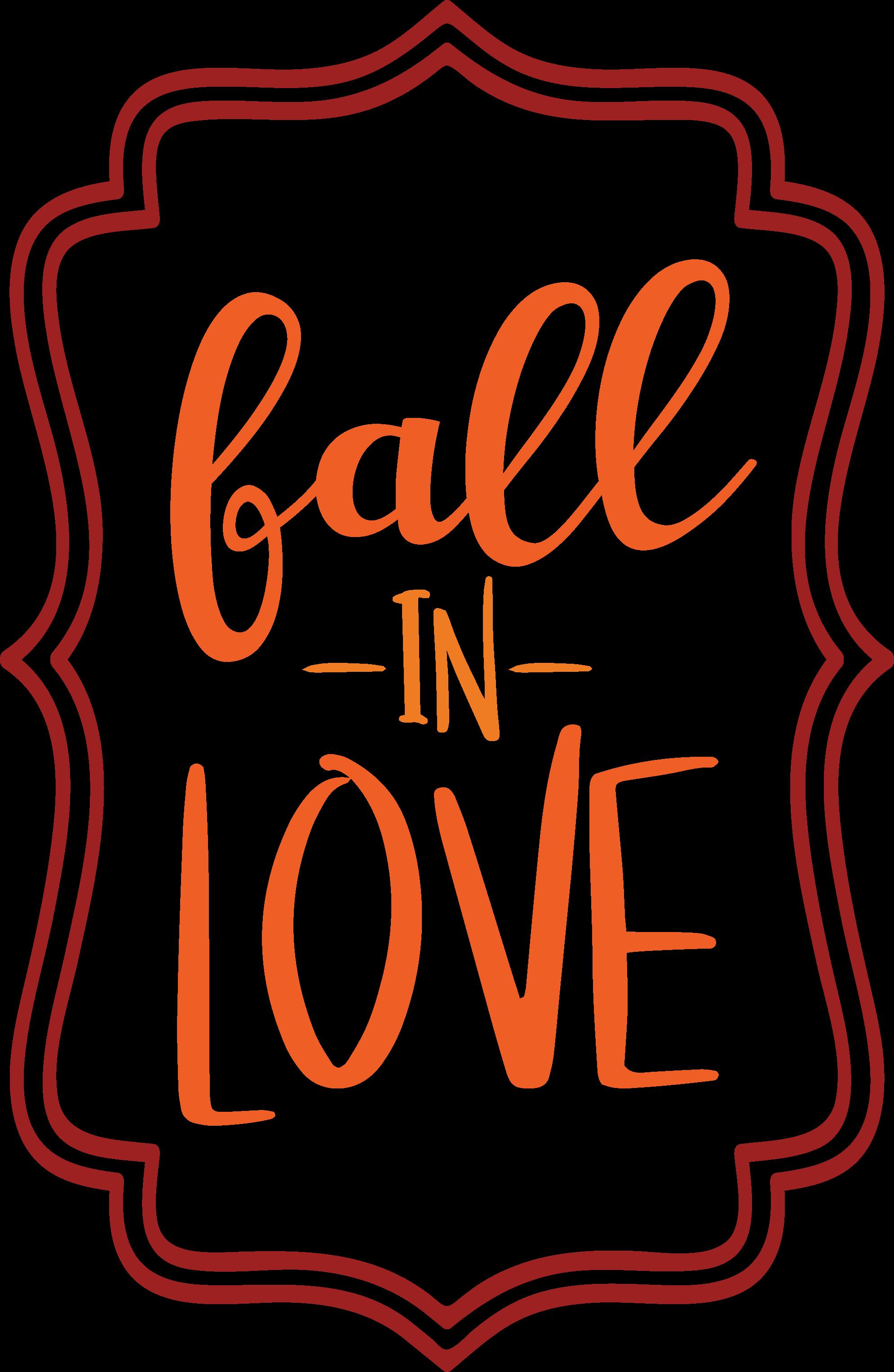 Fall In Love Frame SVG Cut File