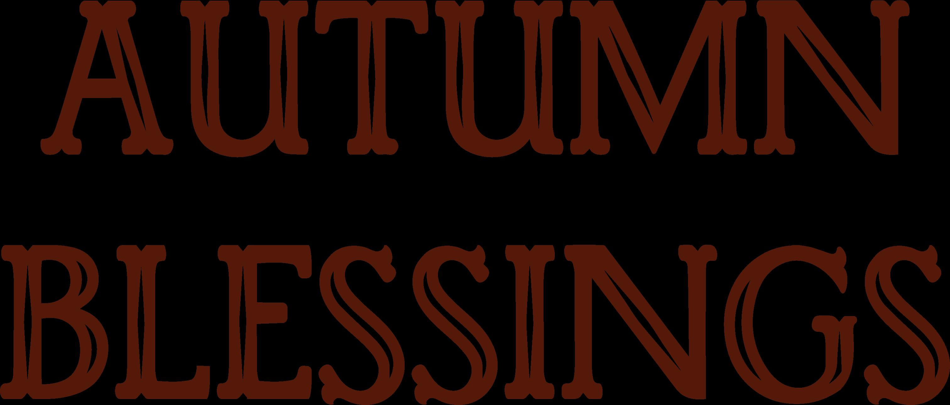 Autumn Blessings #2 SVG Cut File