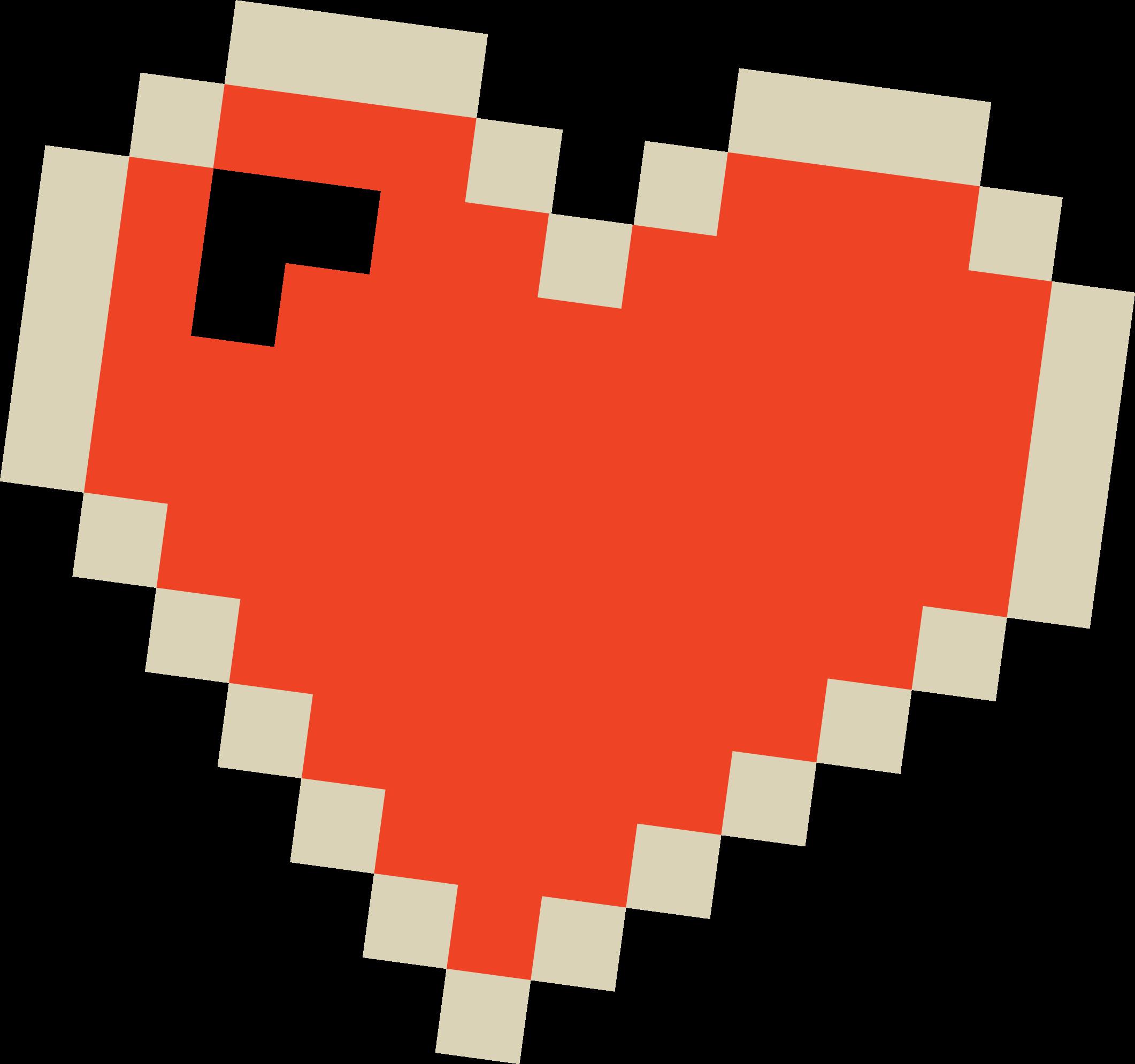 Pixel Heart SVG Cut File