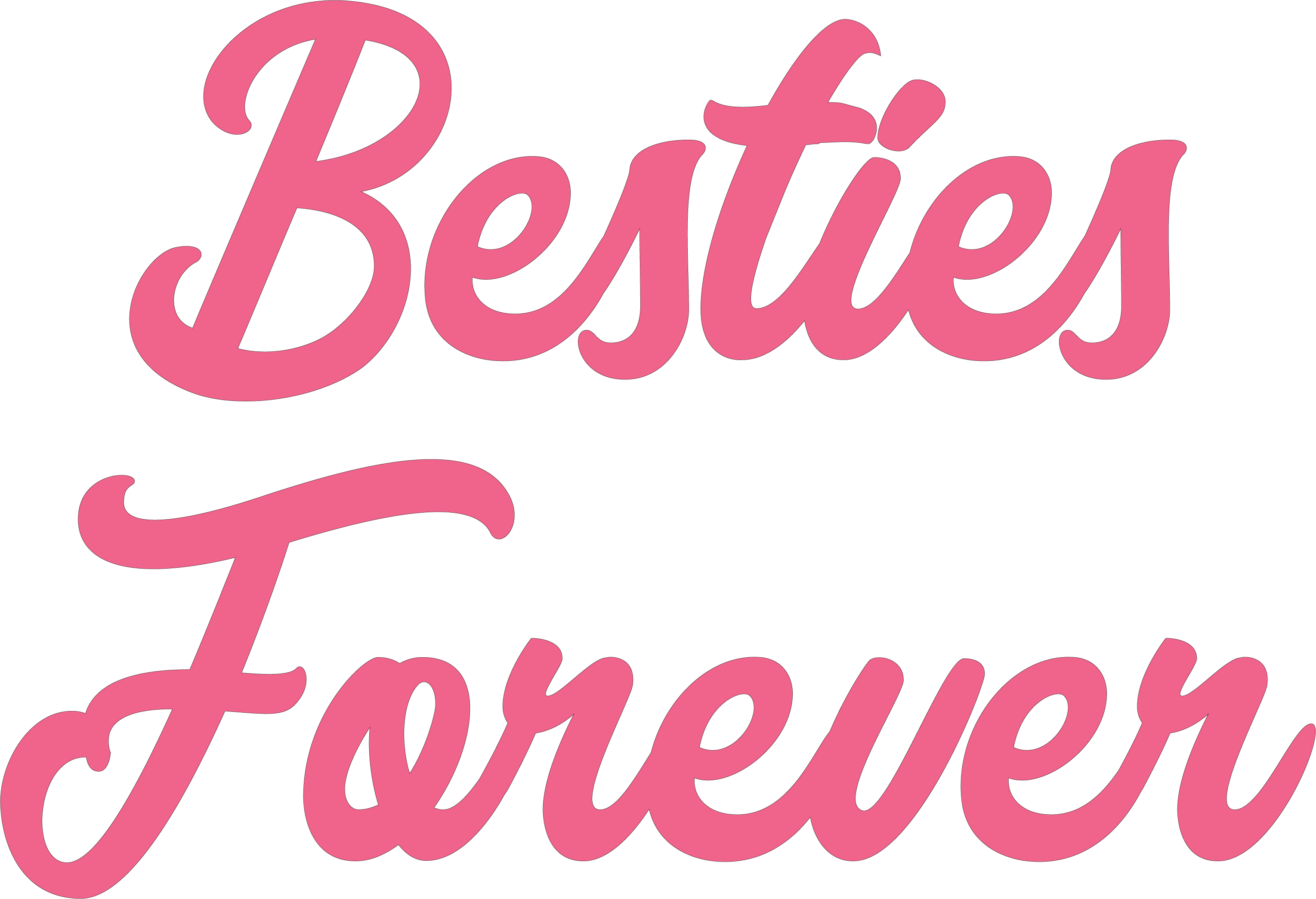 Besties Forever SVG Cut File