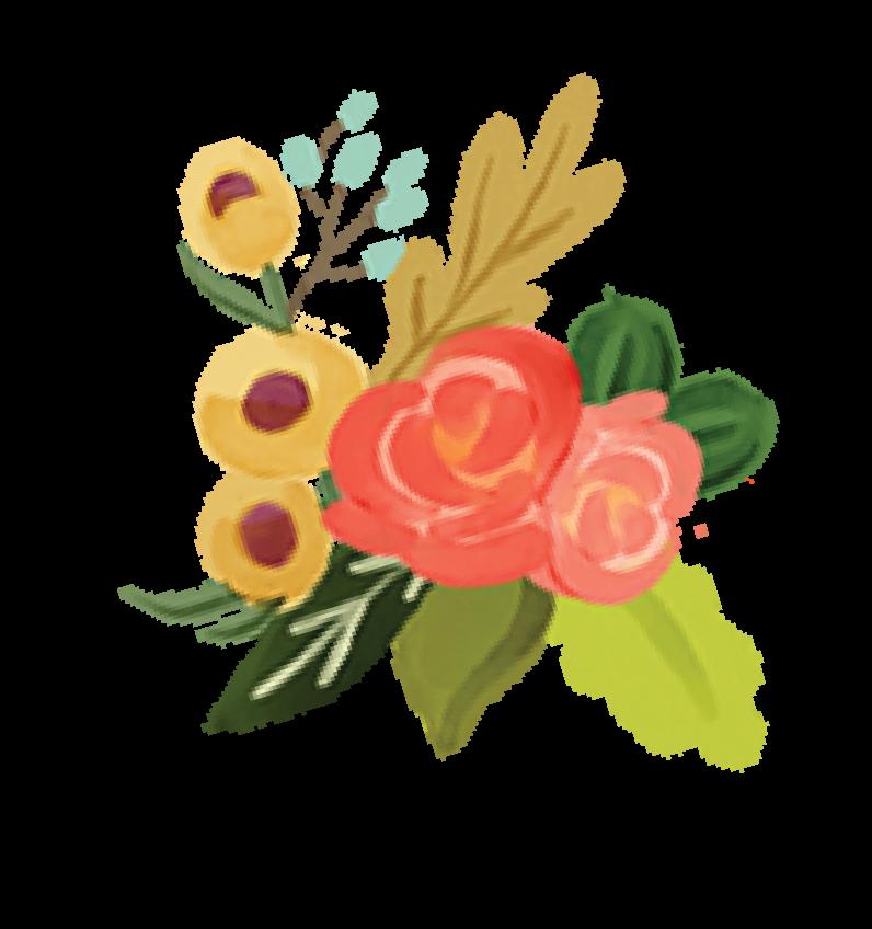 Fall Market Flower Bunch Print & Cut File