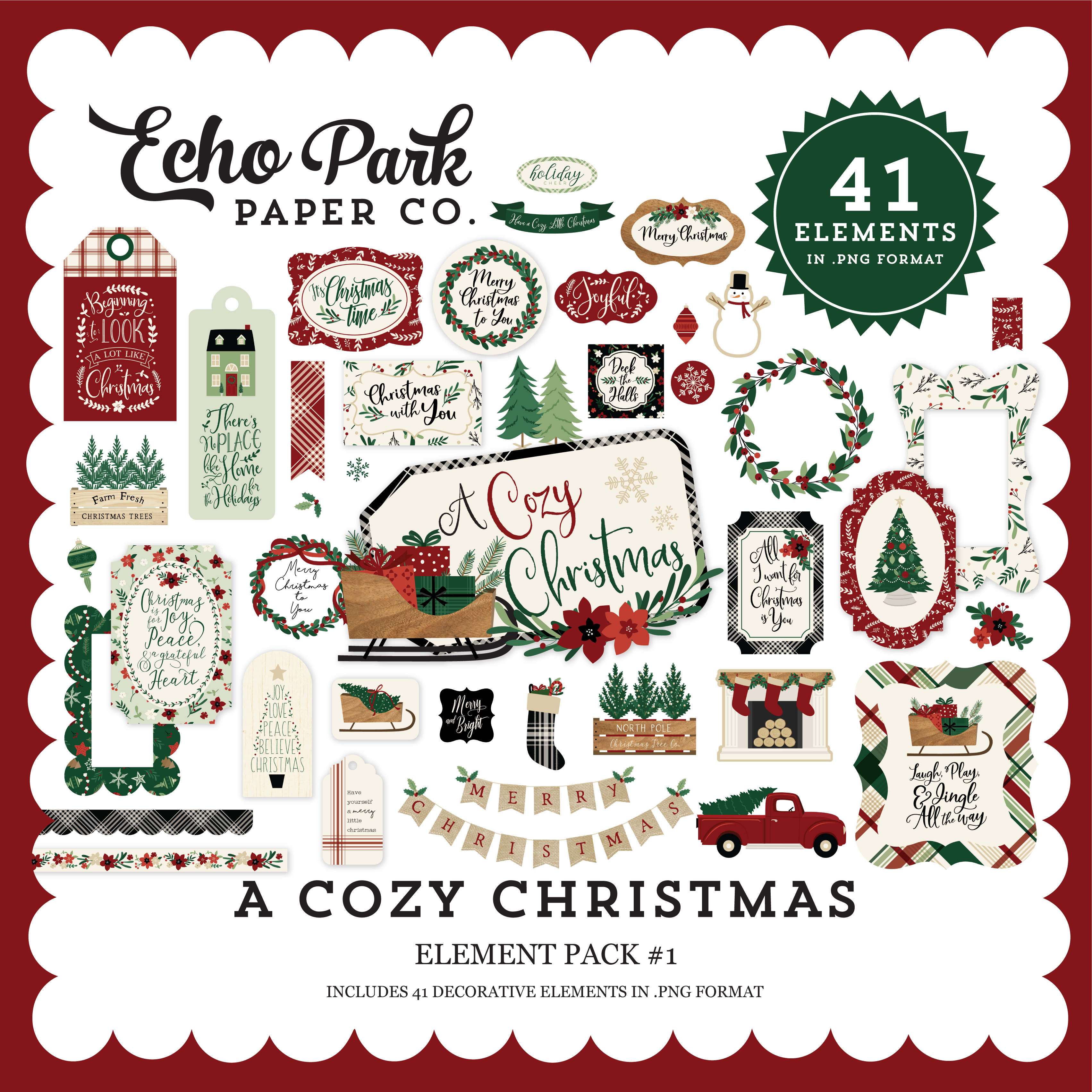 A Cozy Christmas Element Pack #1