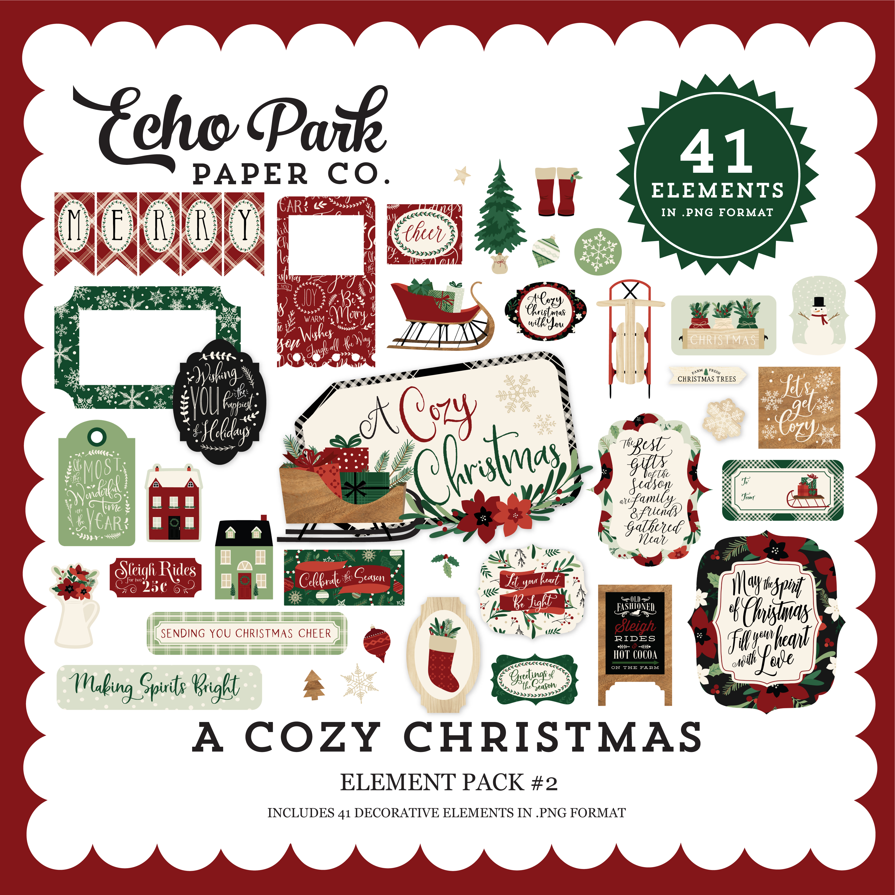 A Cozy Christmas Element Pack #2