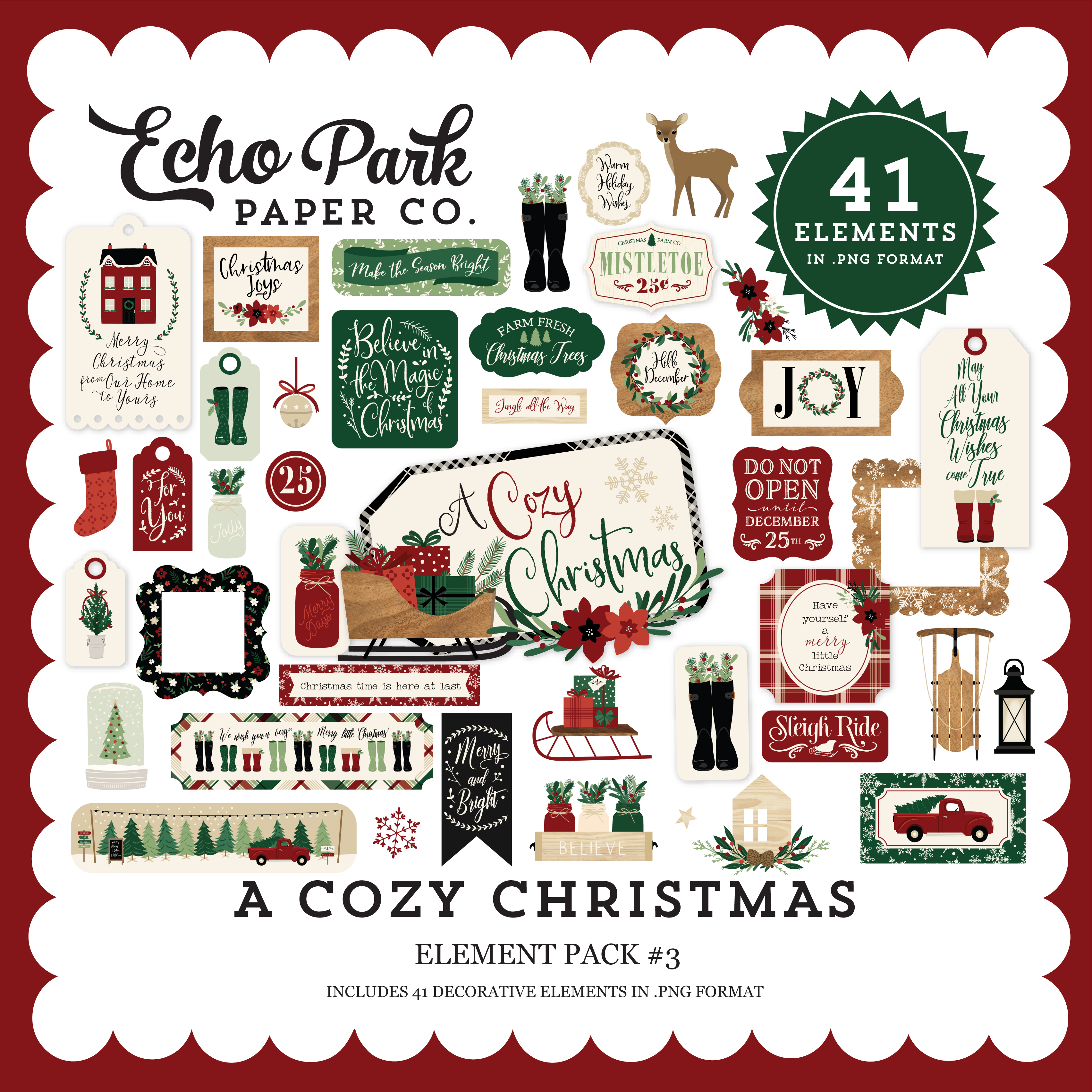 A Cozy Christmas Element Pack #3