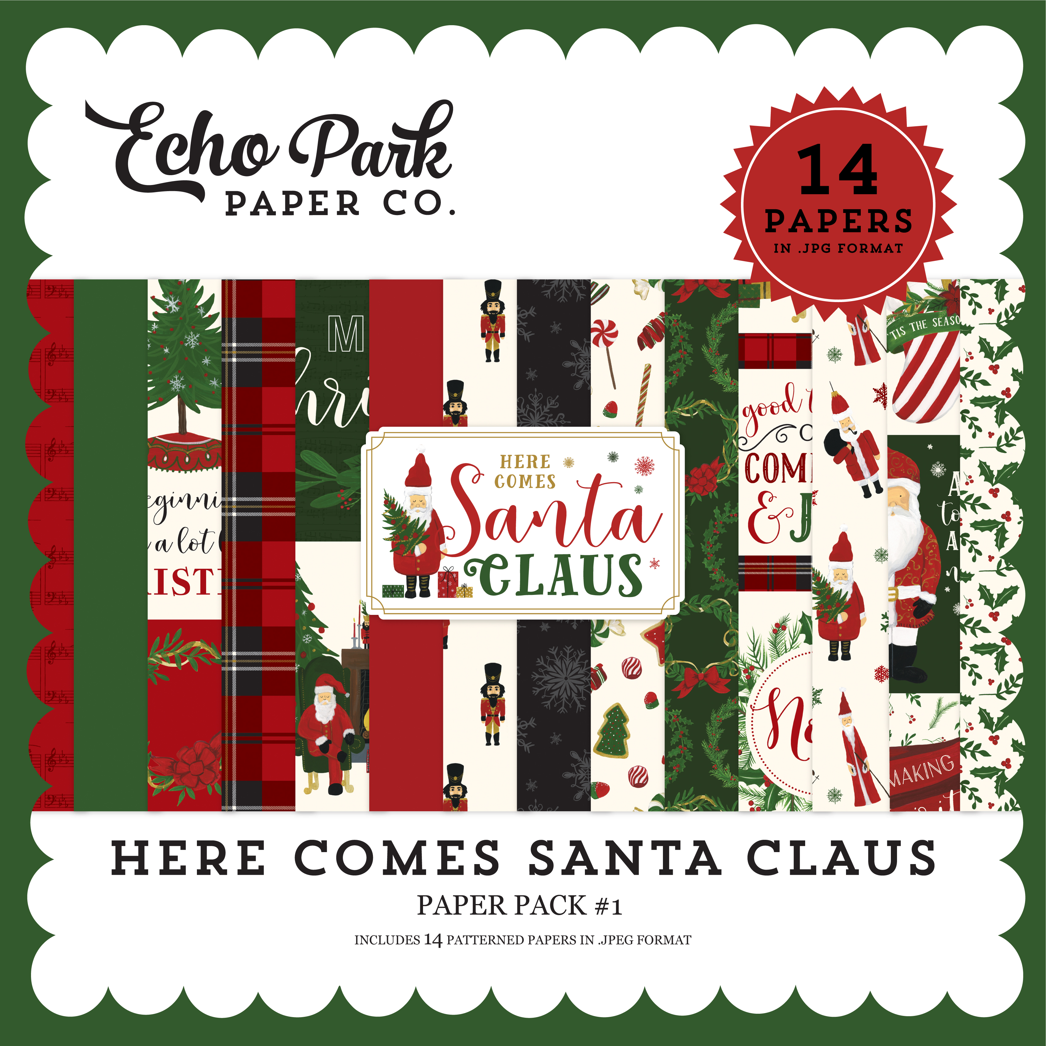 Here Comes Santa Claus Paper Pack #1